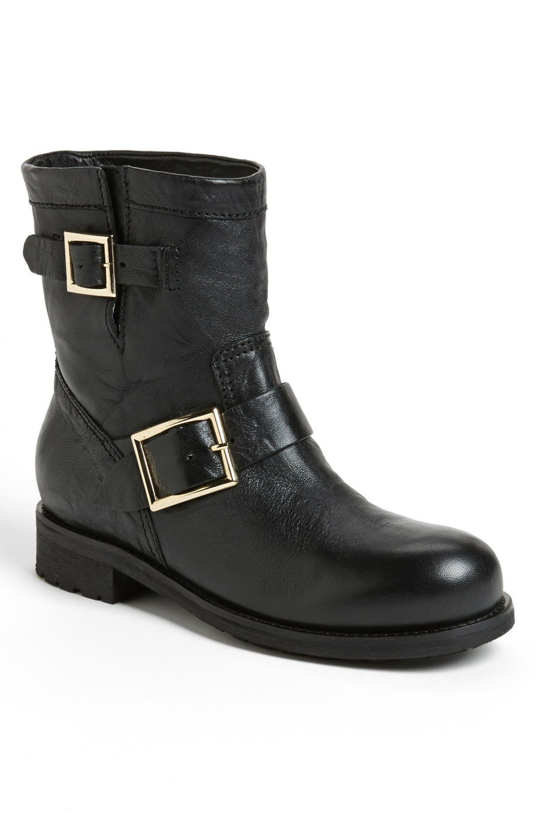 Main Image - Jimmy Choo 'Youth' Short Biker Boot (Women)