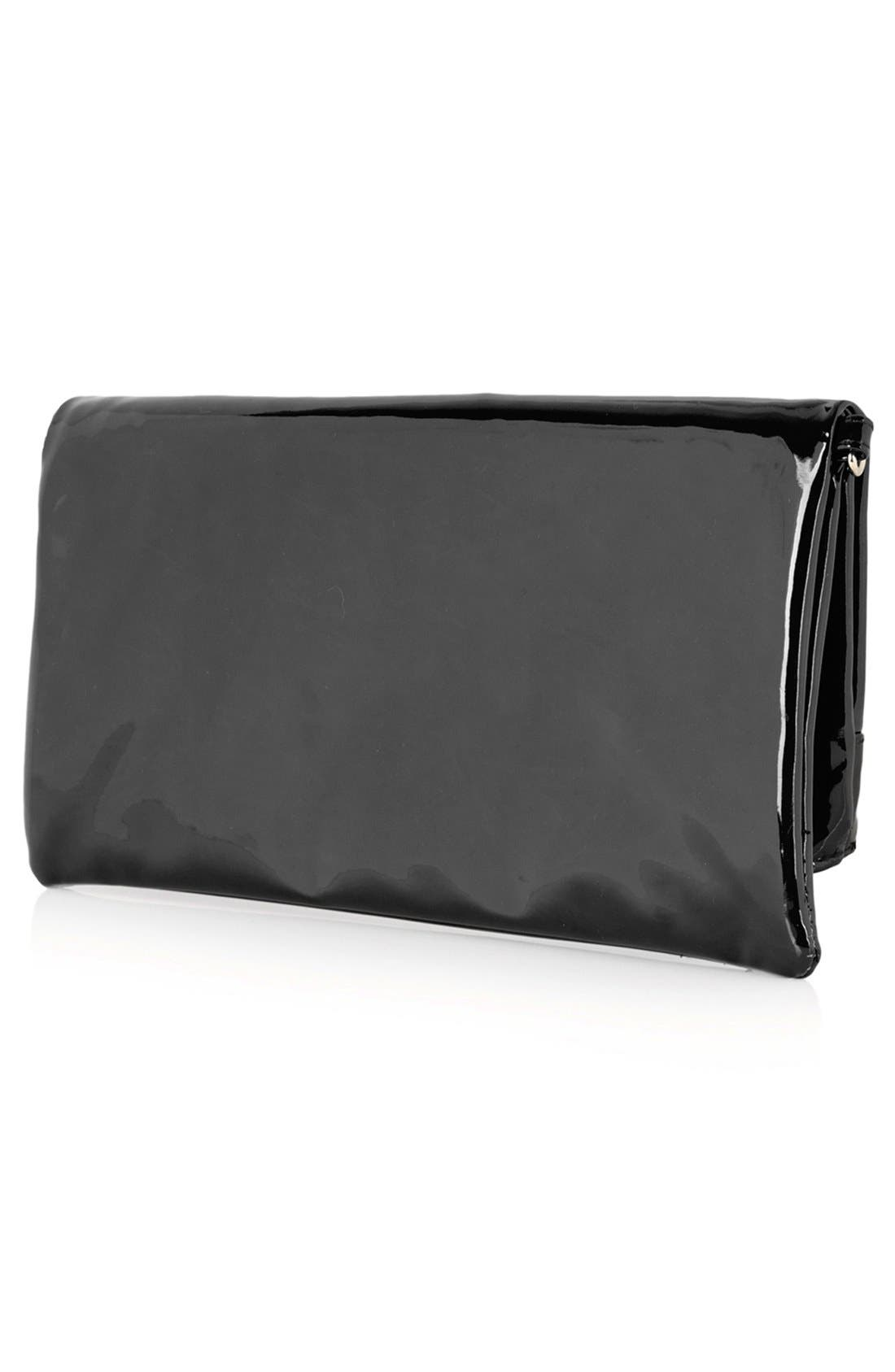 Alternate Image 4  - Topshop Faux Patent Leather Clutch