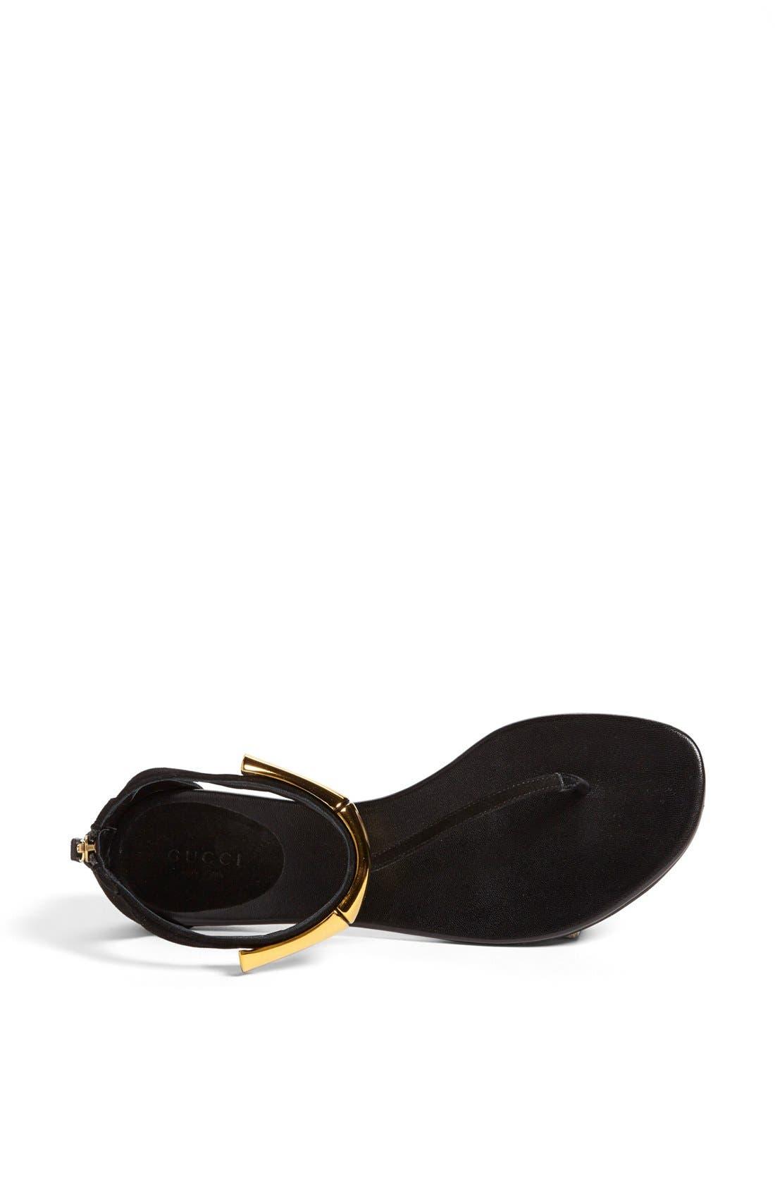 Alternate Image 3  - Gucci 'Coraline' Metal T-Strap Sandal