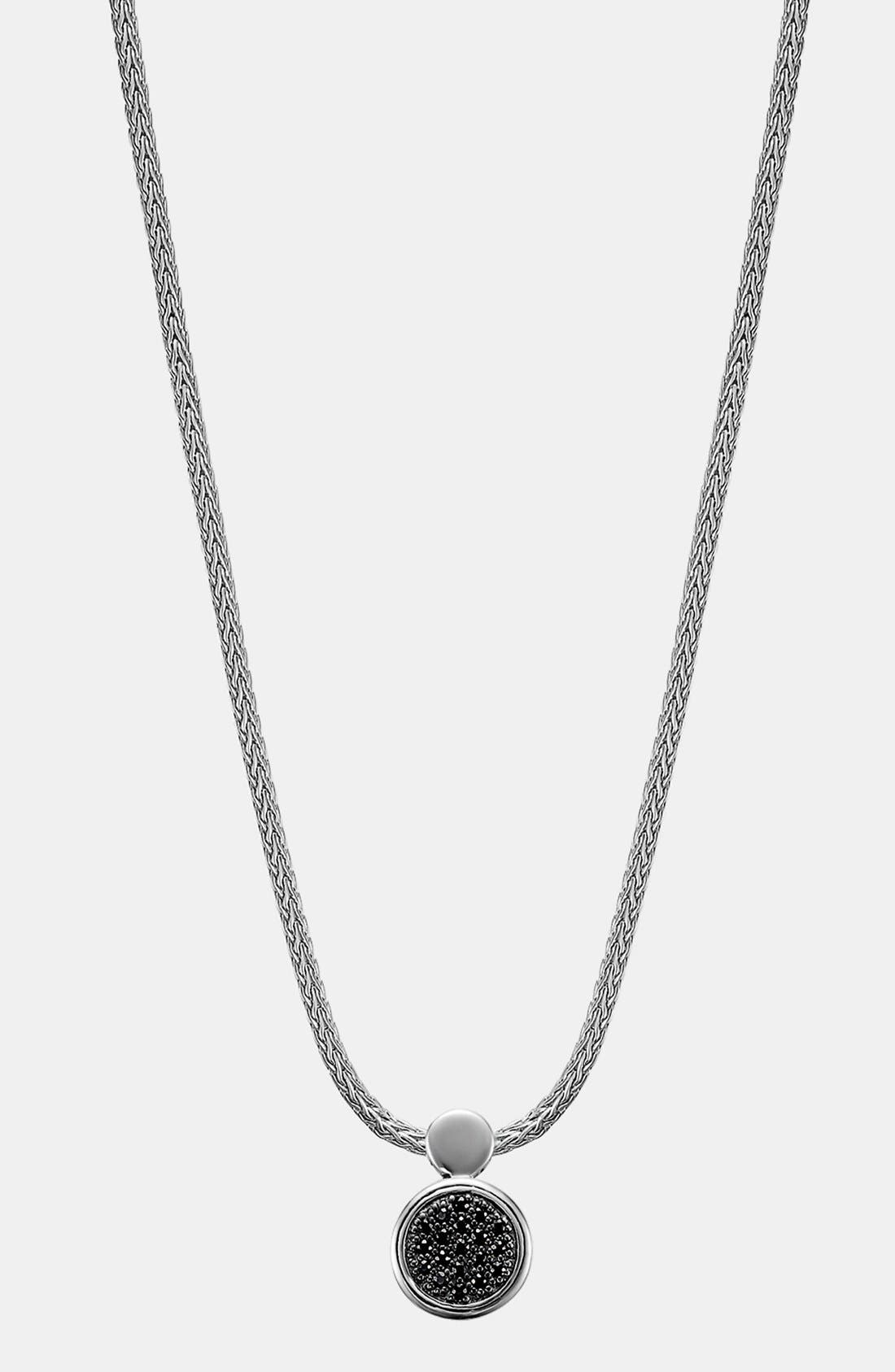 'Dot Silver Lava' Black Sapphire Pendant Necklace,                             Main thumbnail 1, color,                             Sterling Silver/ Black