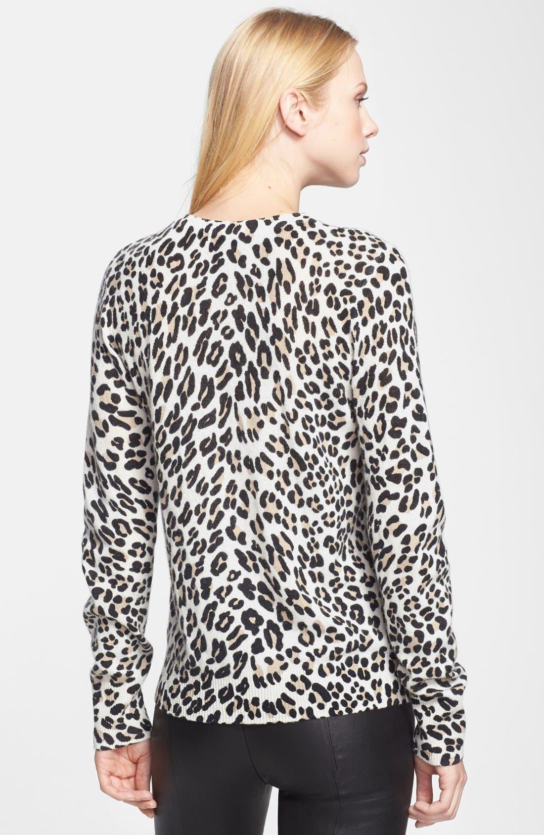 Alternate Image 2  - Equipment 'Shane' Leopard Spot Cashmere Sweater