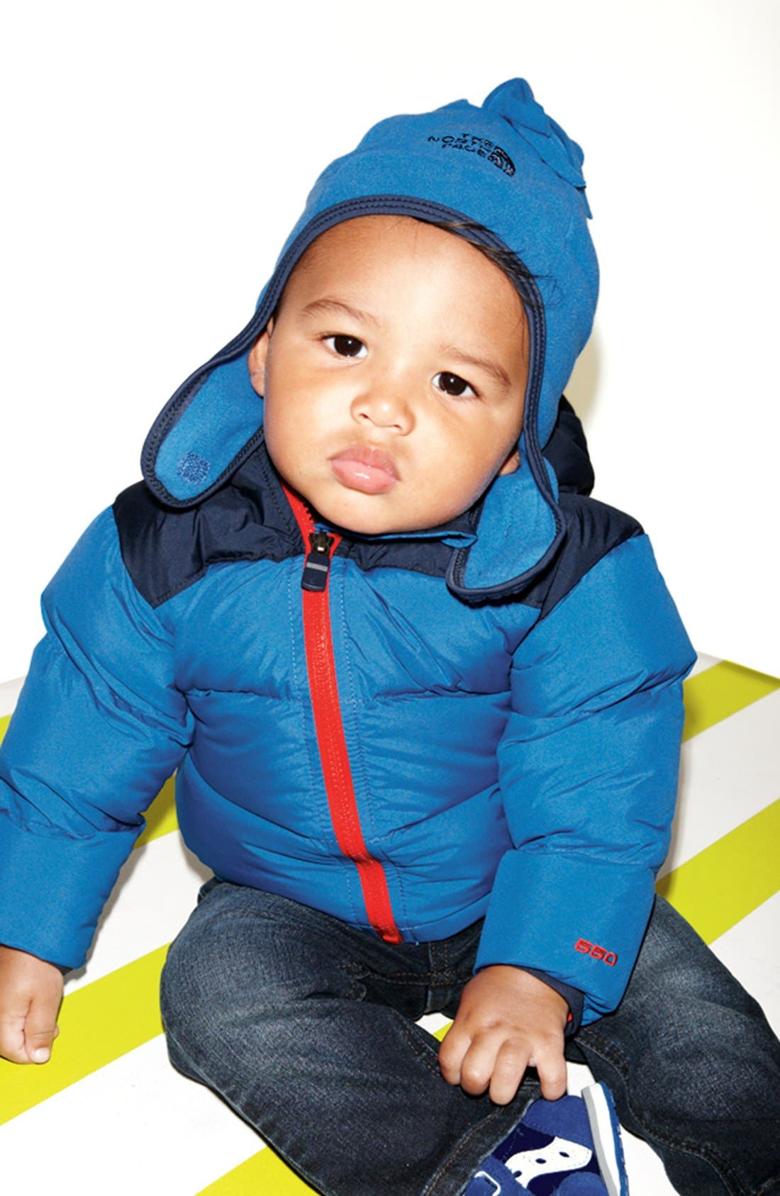 Alternate Image 2  - The North Face 'Noggin' Polartec® Fleece Hat (Baby Boys)