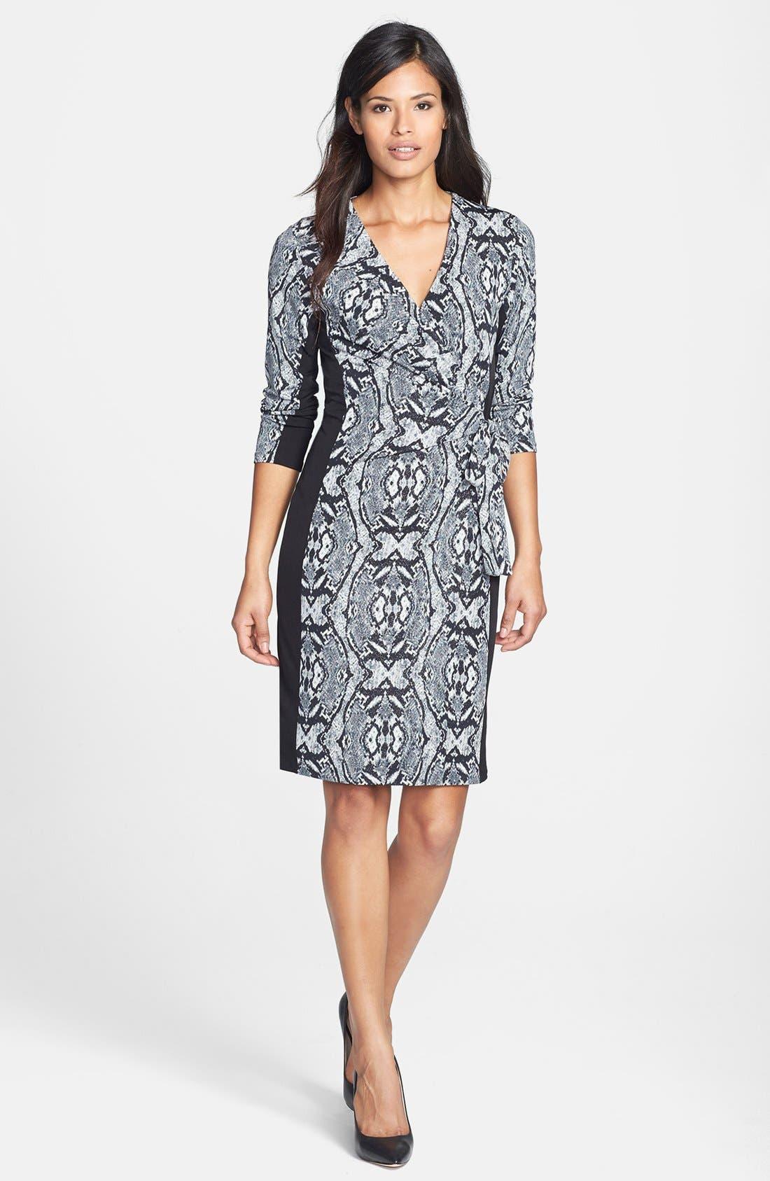 Main Image - Anne Klein Geo Python Print Dress