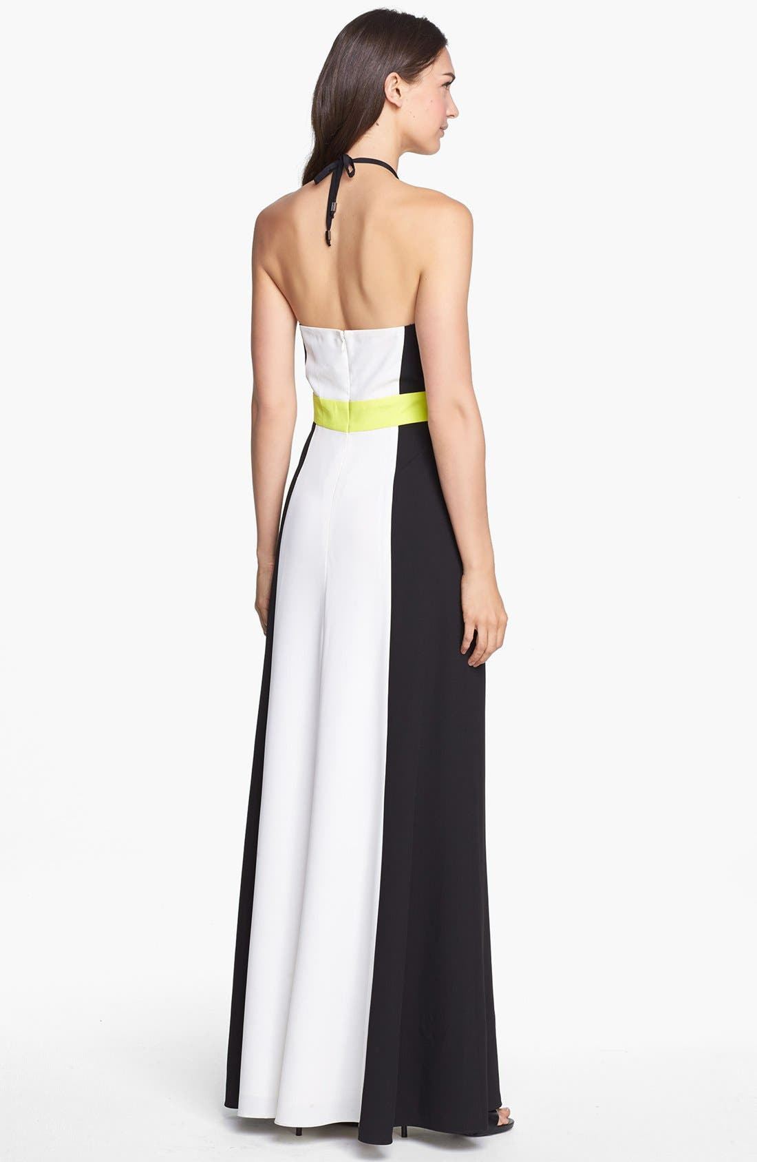 Alternate Image 2  - Vince Camuto Colorblock Halter Maxi Dress