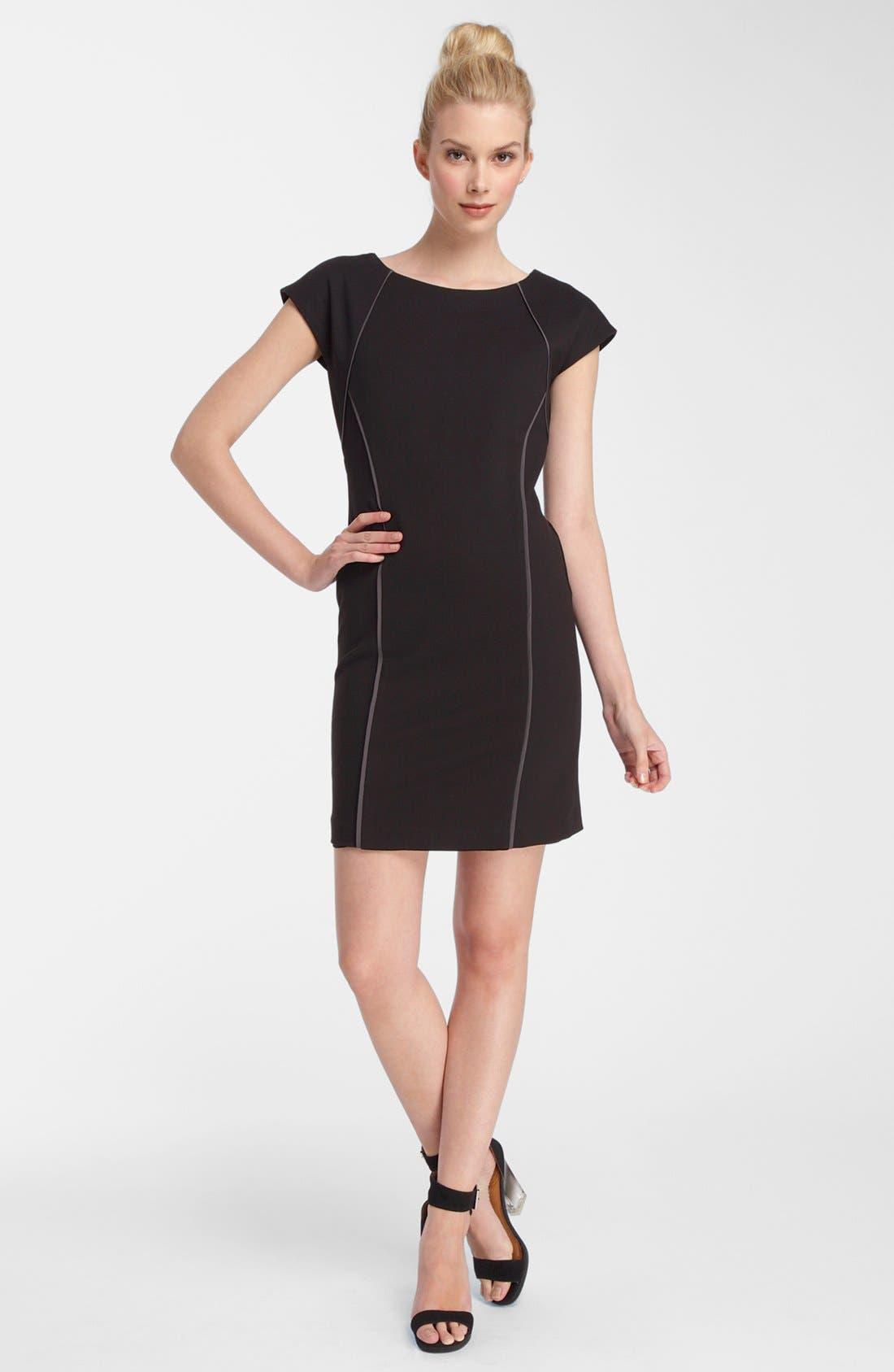 Alternate Image 1 Selected - Catherine Catherine Malandrino Piped Ponte Knit Dress