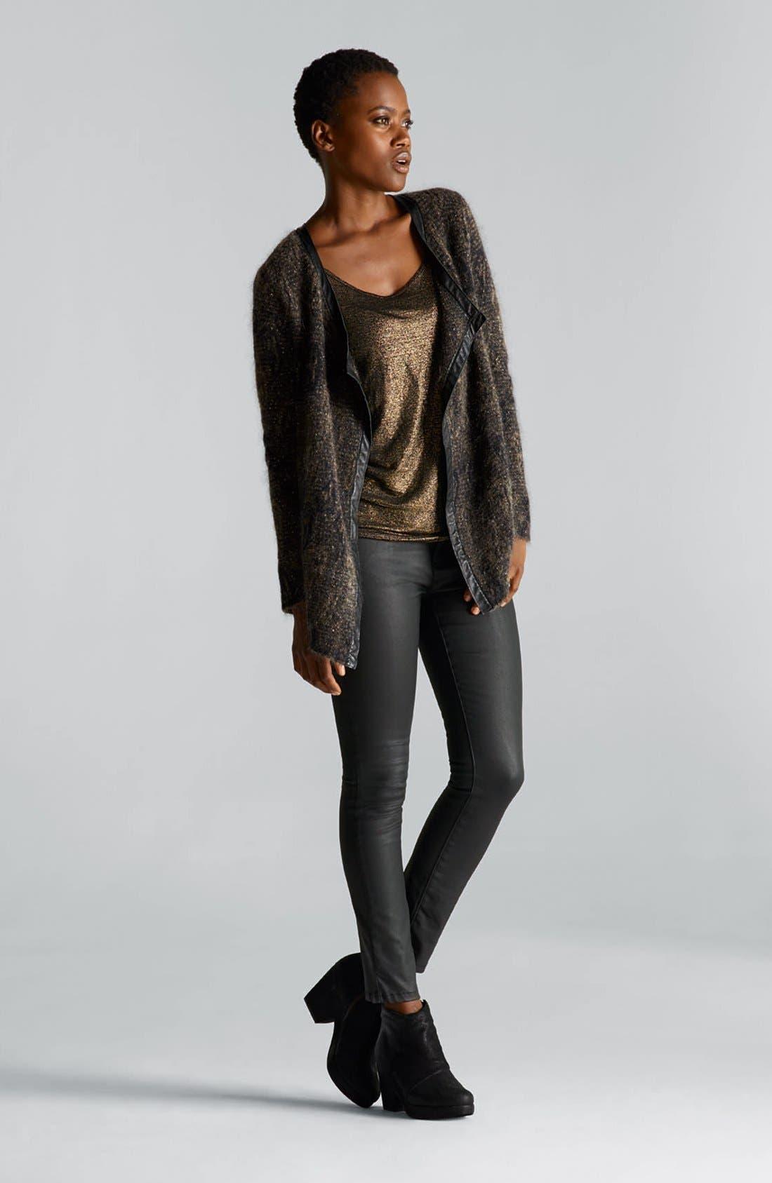 Alternate Image 8  - Eileen Fisher Waxed Denim Skinny Jeans