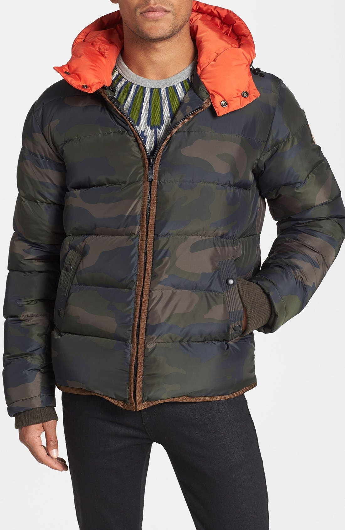 Alternate Image 1 Selected - Scotch & Soda Camo Quilted Down Jacket