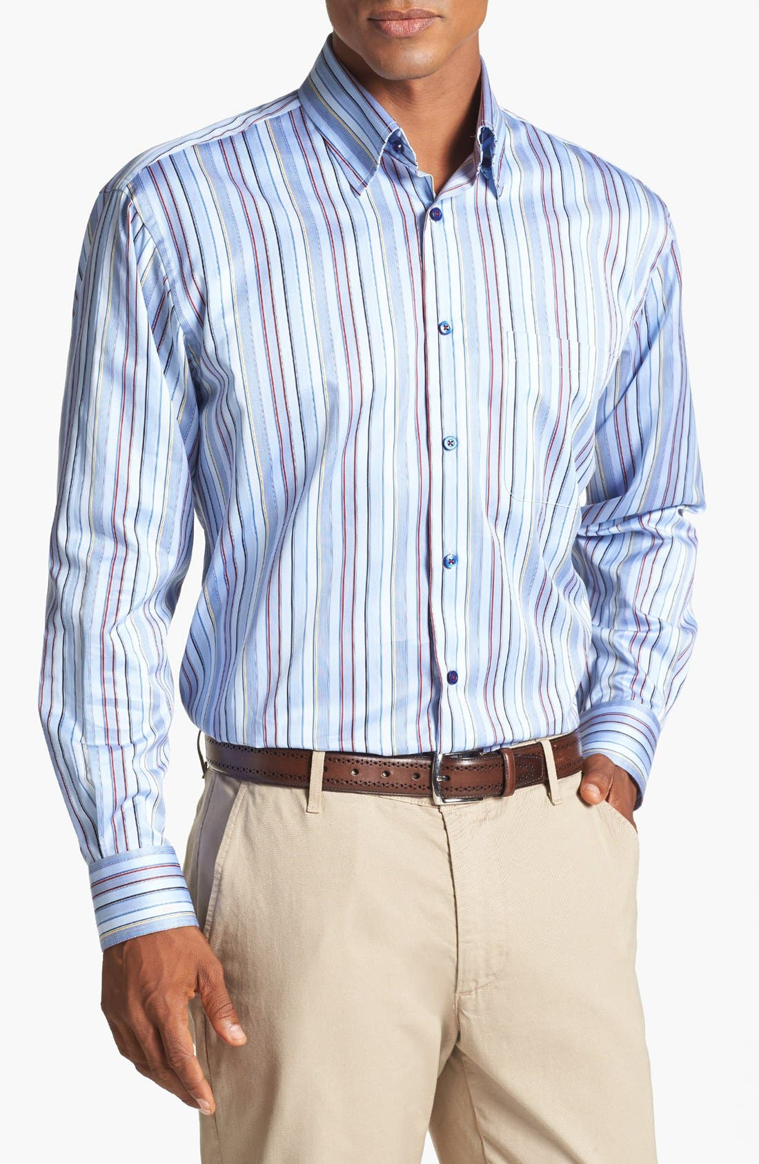 Alternate Image 1 Selected - Robert Talbott Stripe Classic Fit Sport Shirt