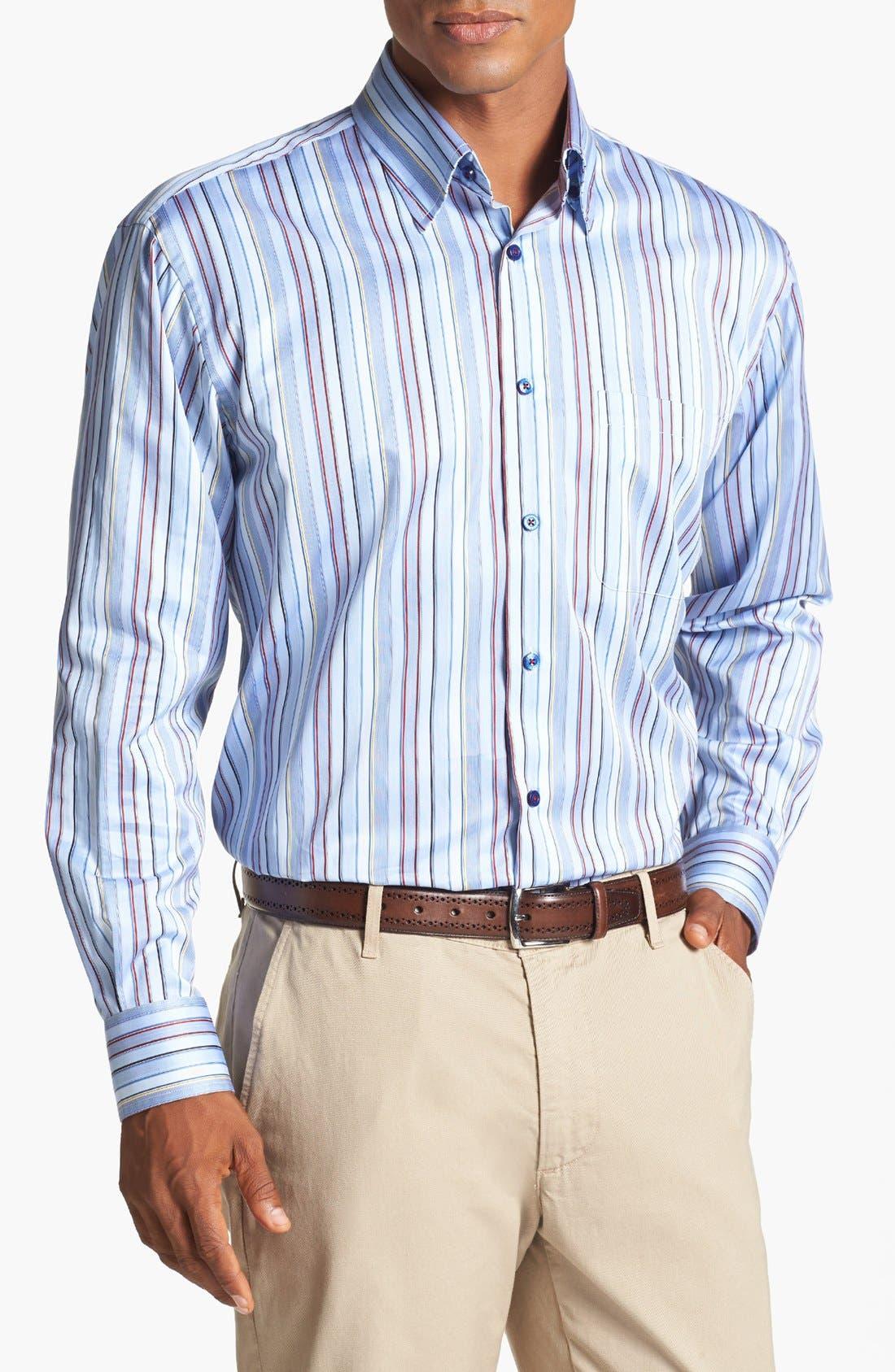 Main Image - Robert Talbott Stripe Classic Fit Sport Shirt