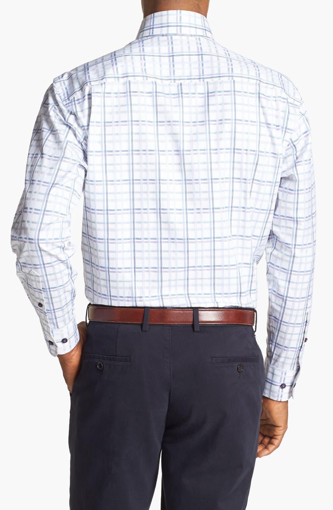 Alternate Image 2  - Robert Talbott Windowpane Plaid Woven Sport Shirt