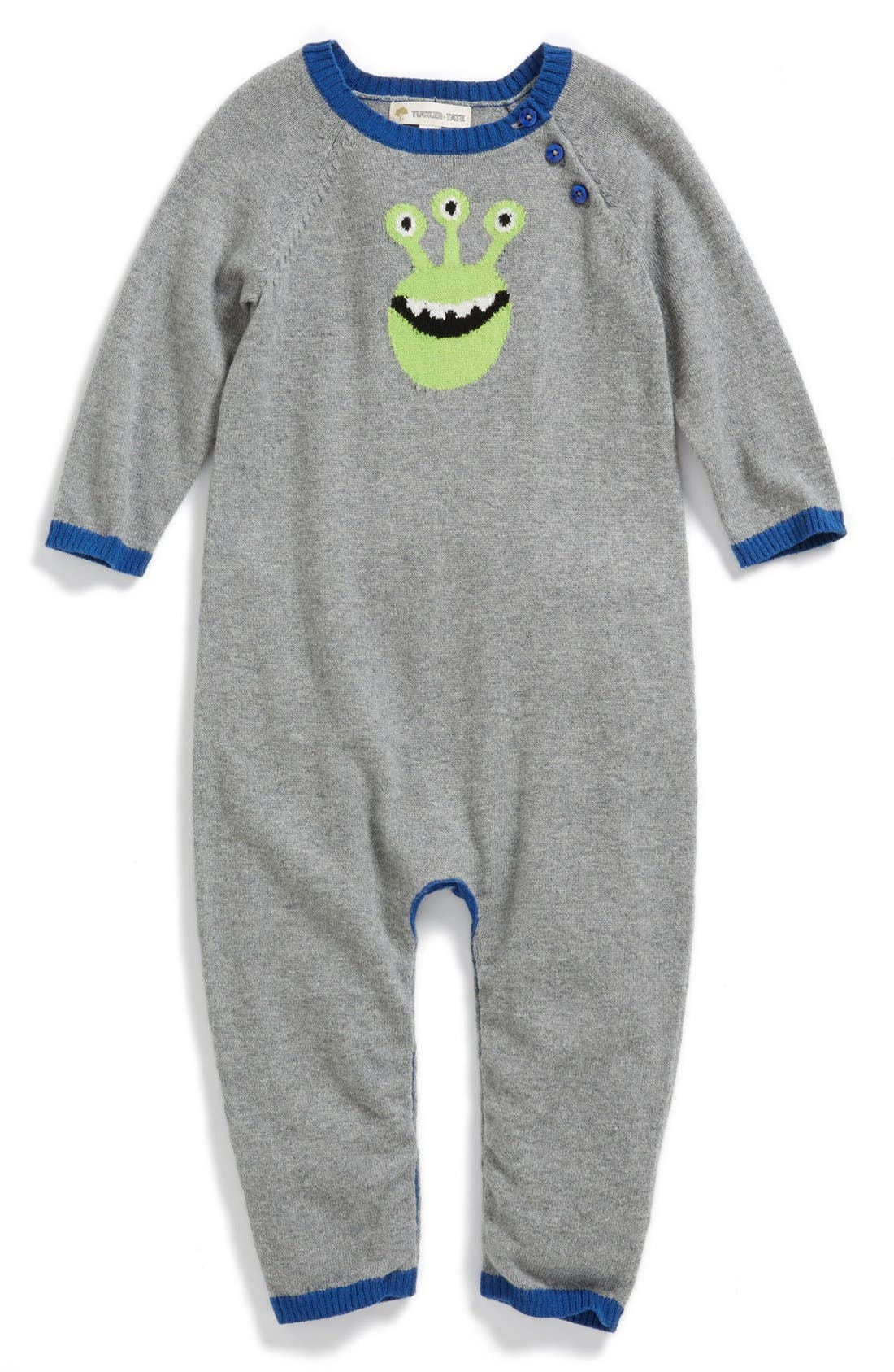 Alternate Image 1 Selected - Tucker + Tate Cotton & Cashmere Romper (Baby Boys)