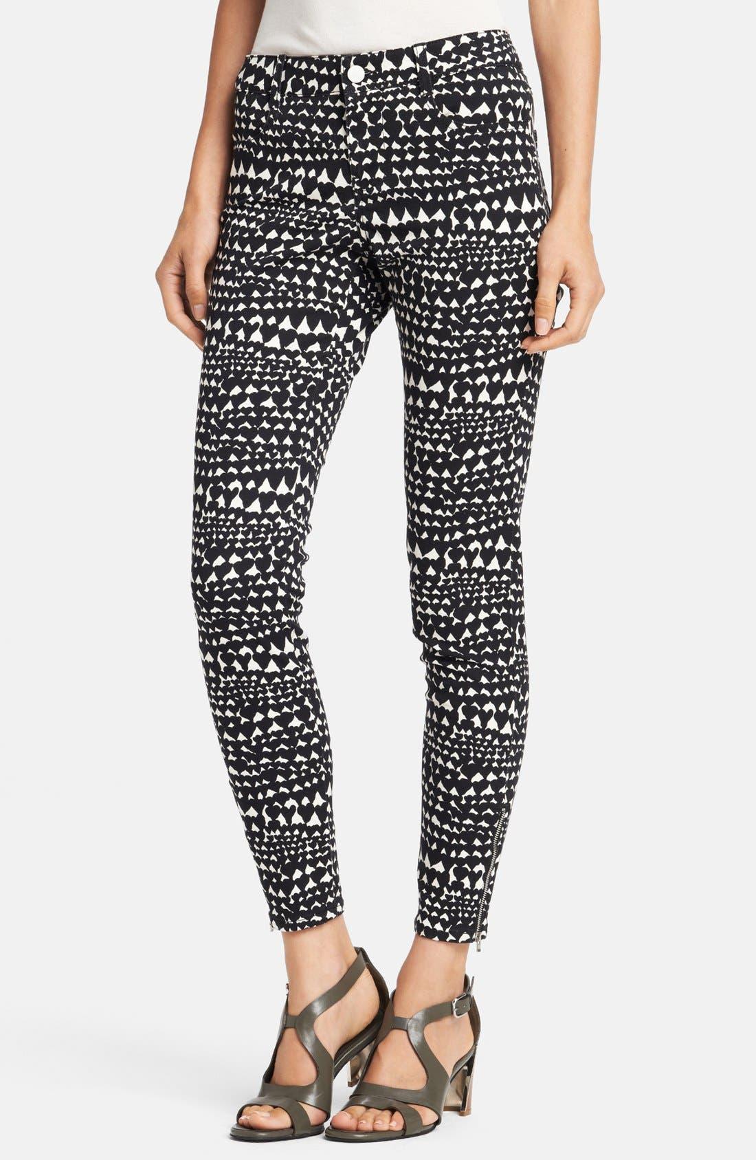 Alternate Image 1 Selected - Stella McCartney 'Jessica' Heart Print Skinny Ankle Zip Jeans