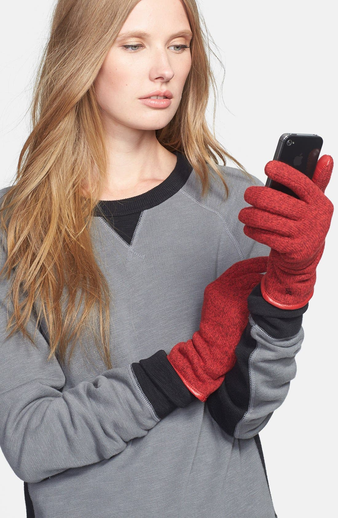Alternate Image 1 Selected - U|R Knit Tech Gloves