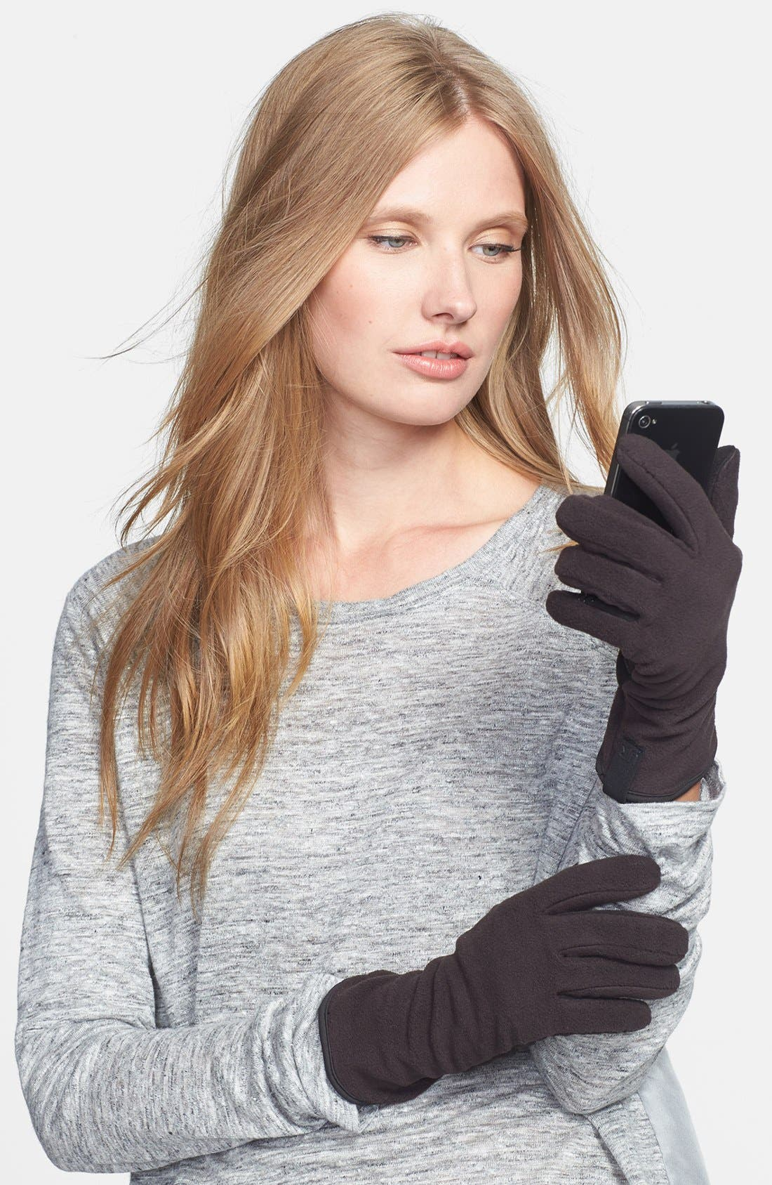 Alternate Image 1 Selected - U|R Fleece Gloves