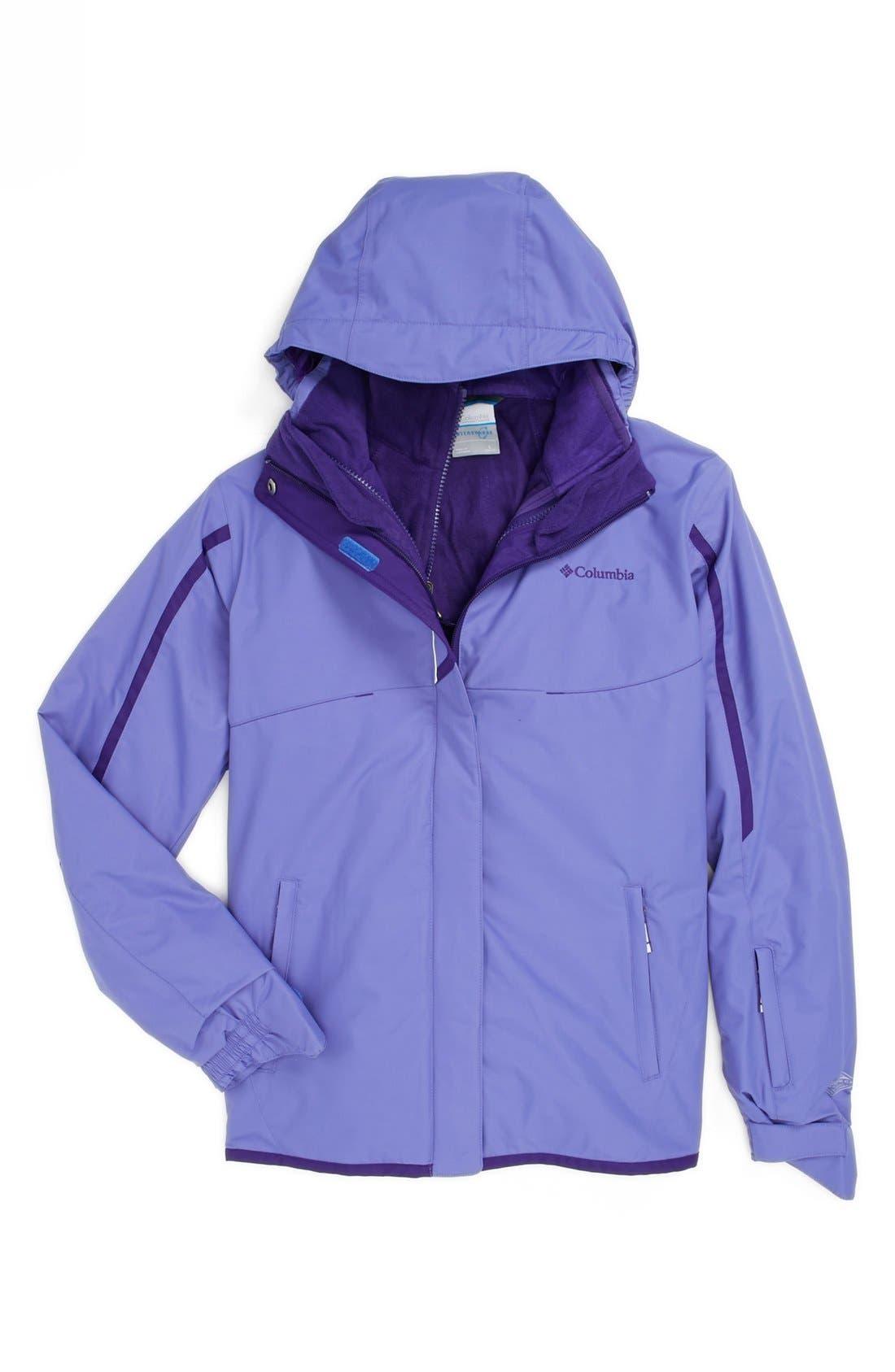 Alternate Image 1 Selected - Columbia 'Bugaboo Interchange' Waterproof 3-in-1 Jacket (Big Girls)