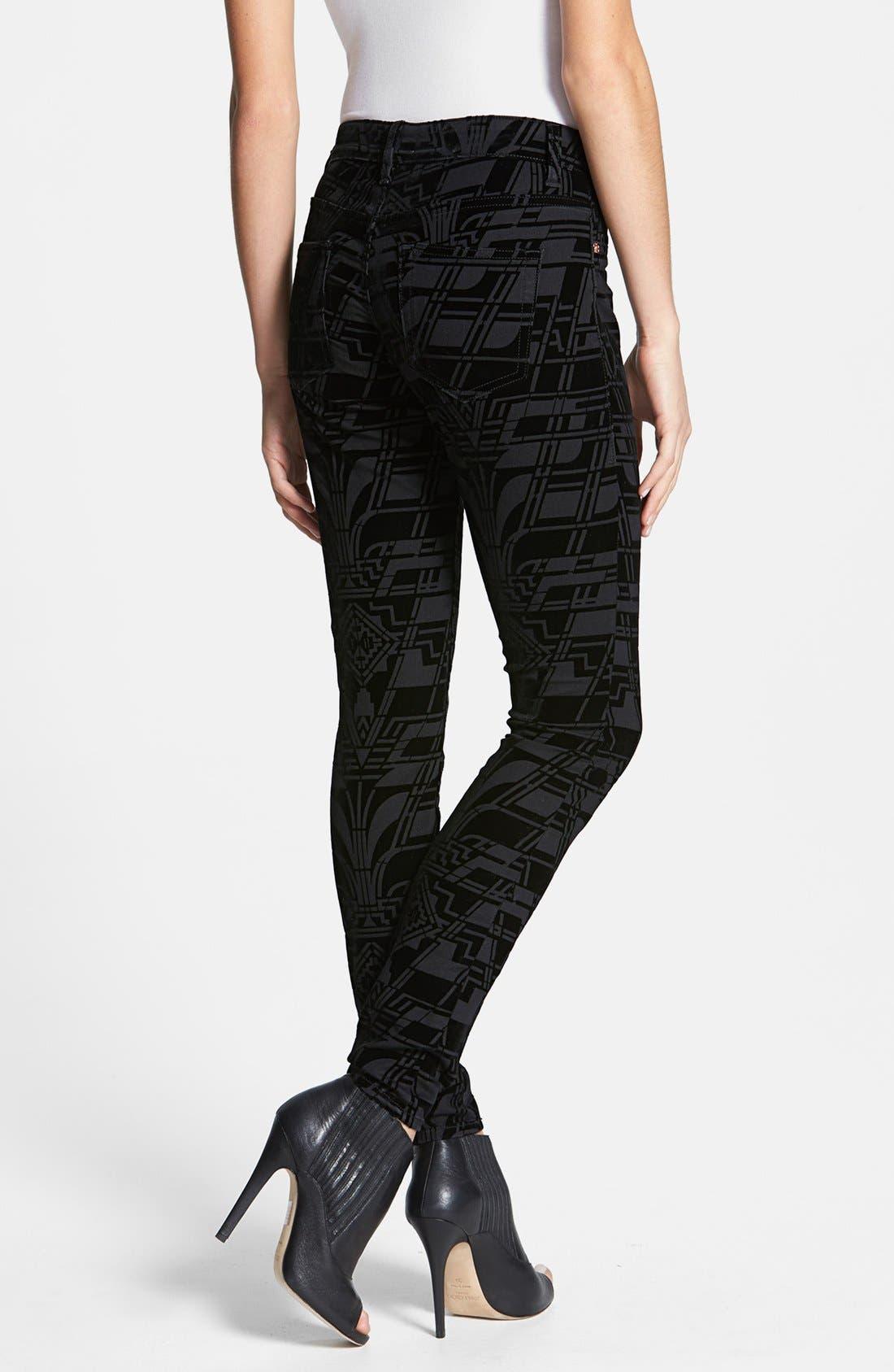 Alternate Image 2  - Ted Baker London 'Dehme' Velvet Jeans (Black)