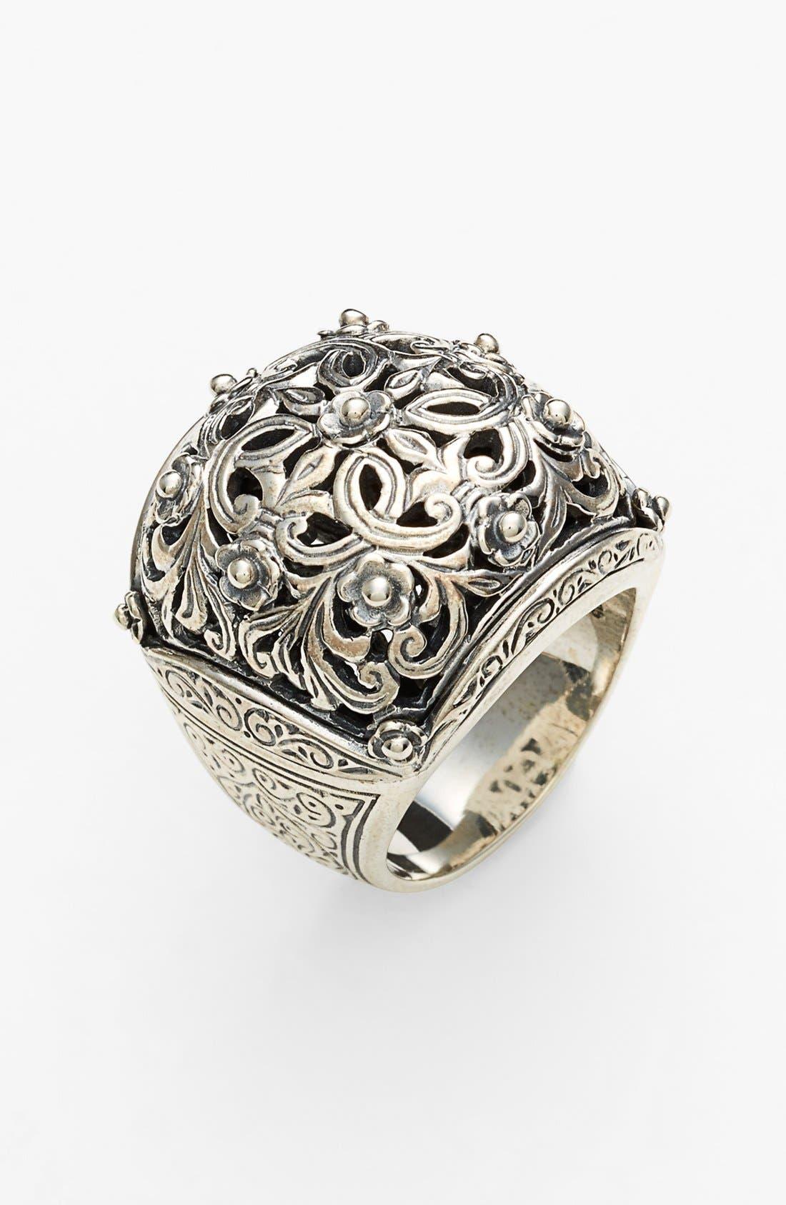 'Classics' Open Statement Ring,                         Main,                         color, Silver