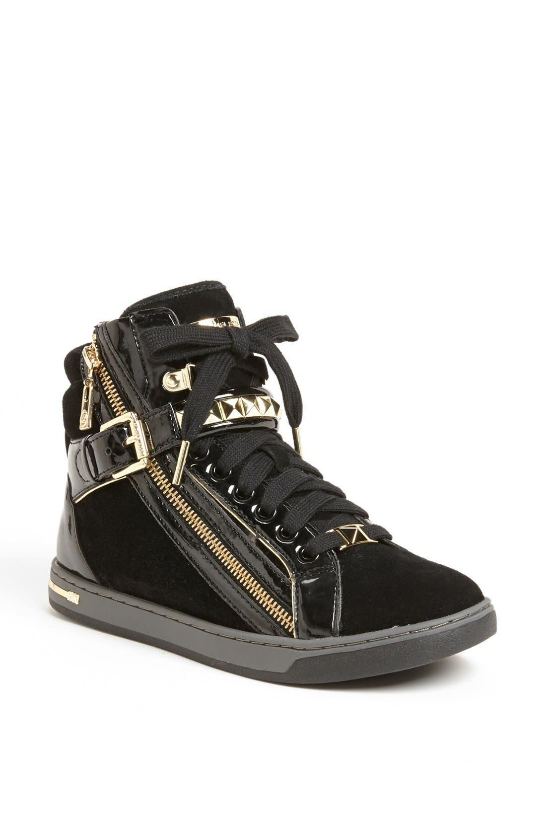 Alternate Image 1 Selected - MICHAEL Michael Kors 'Glam' Studded High Top Sneaker