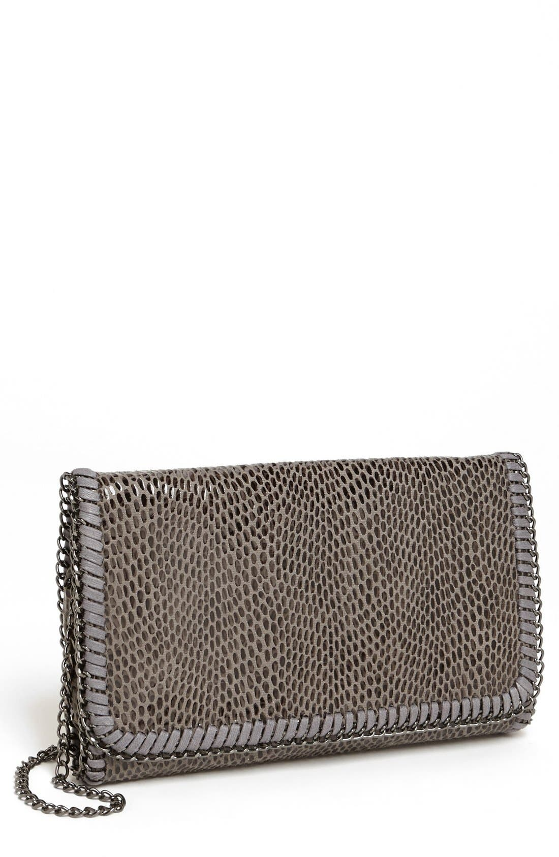 Alternate Image 1 Selected - Tarnish Snake Chain Crossbody Clutch