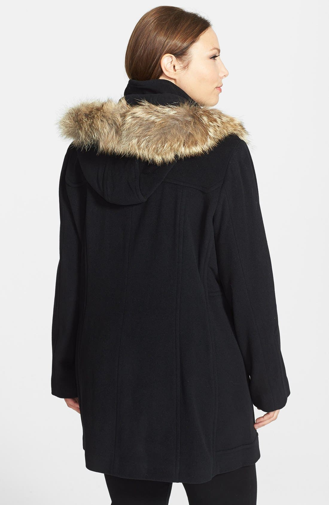 Alternate Image 3  - Marc New York by Andrew Marc 'Harley' Genuine Coyote Fur Trim Duffle Coat (Plus Size)