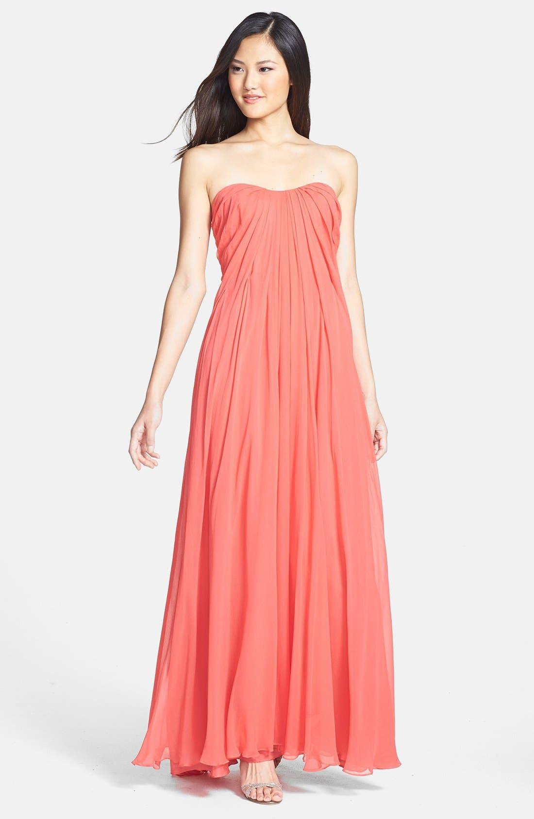 Alternate Image 1 Selected - Jill Jill Stuart Pleat Chiffon Gown