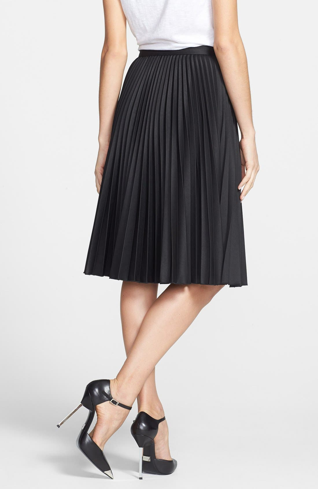 Alternate Image 2  - MICHAEL Michael Kors Knife Pleated Skirt