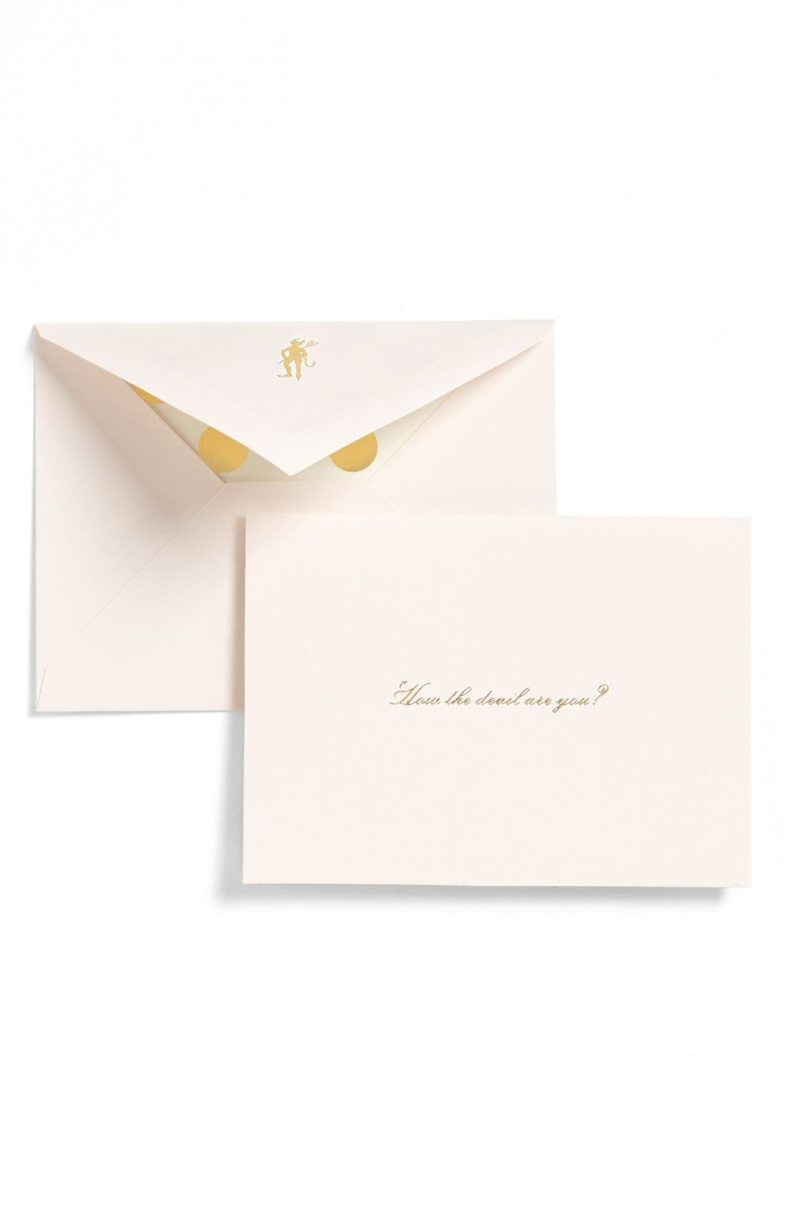 Main Image - kate spade new york 'how the devil are you?' note cards (set of 10)