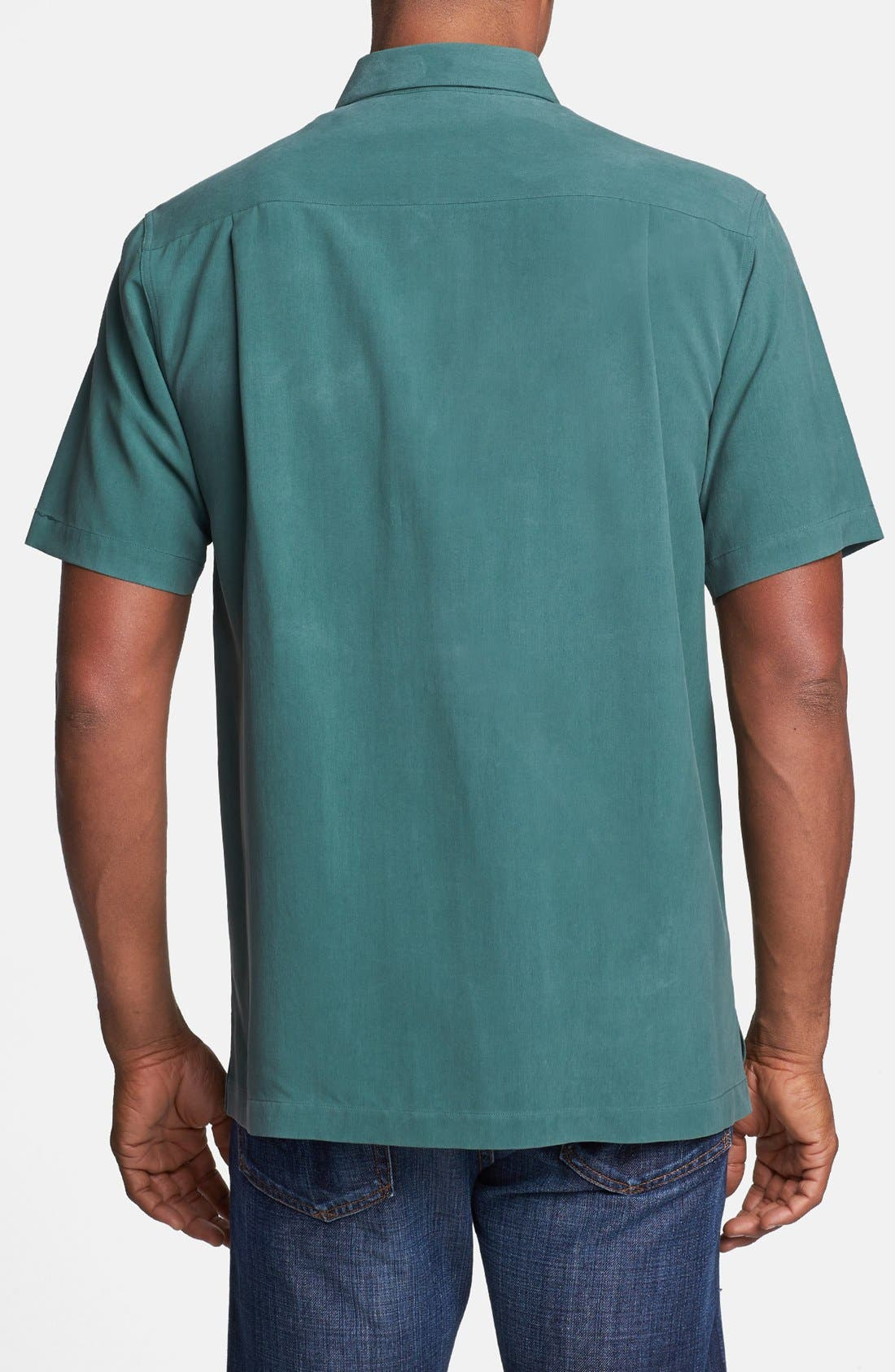 Alternate Image 2  - Nat Nast 'Down the Line' Short Sleeve Silk Sport Shirt