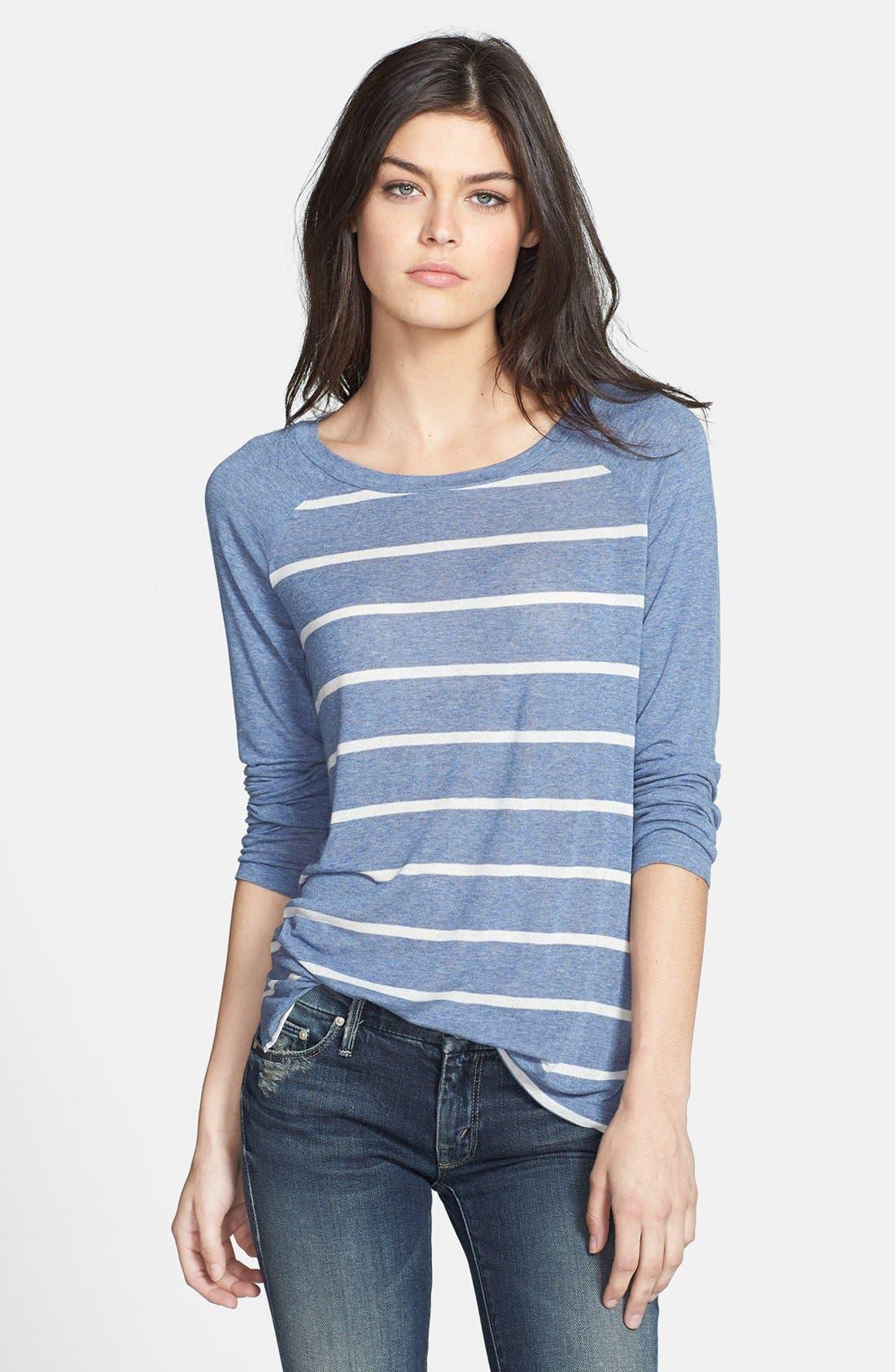 Alternate Image 1 Selected - Splendid Stripe Raglan Sleeve Top