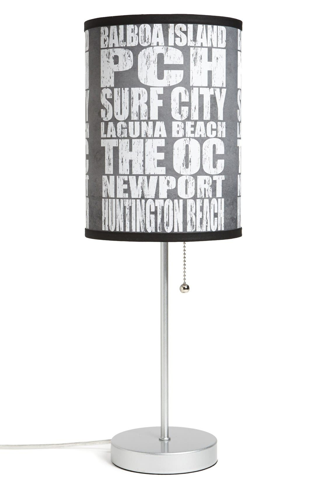 Main Image - LAMP-IN-A-BOX 'Local Words - Orange County' Table Lamp