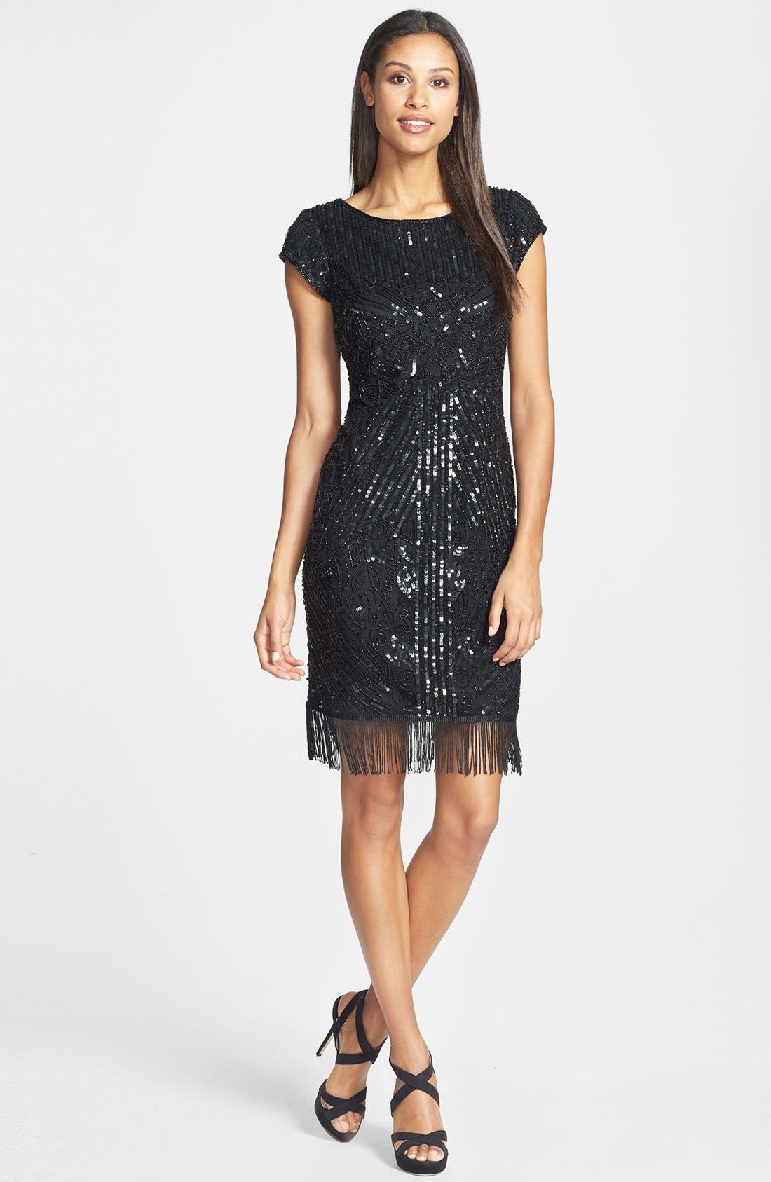 Alternate Image 3  - Pisarro Nights Embellished Fringe Dress