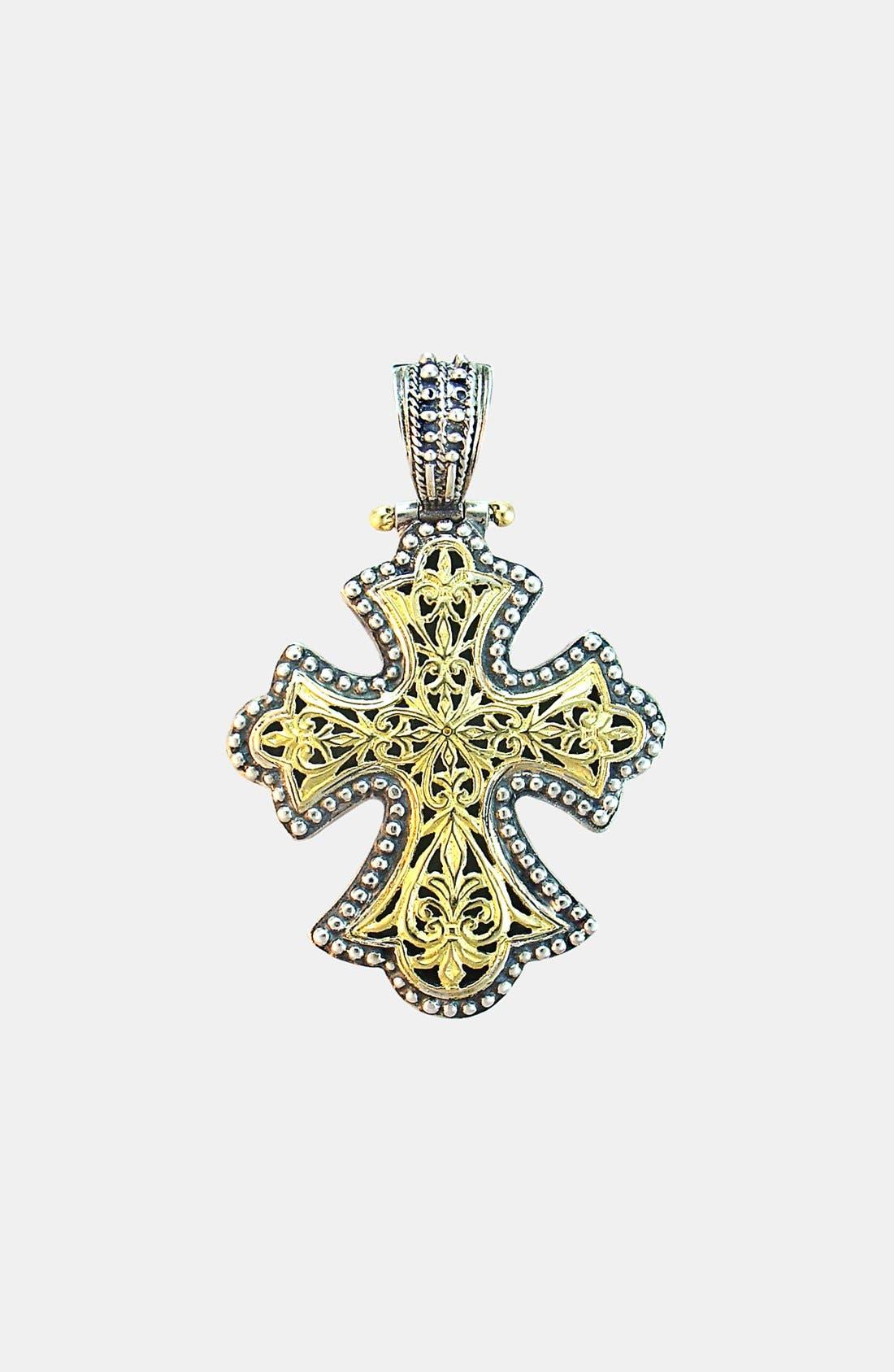 'Classics' Two-Tone Cross Pendant,                         Main,                         color, Silver/ Gold