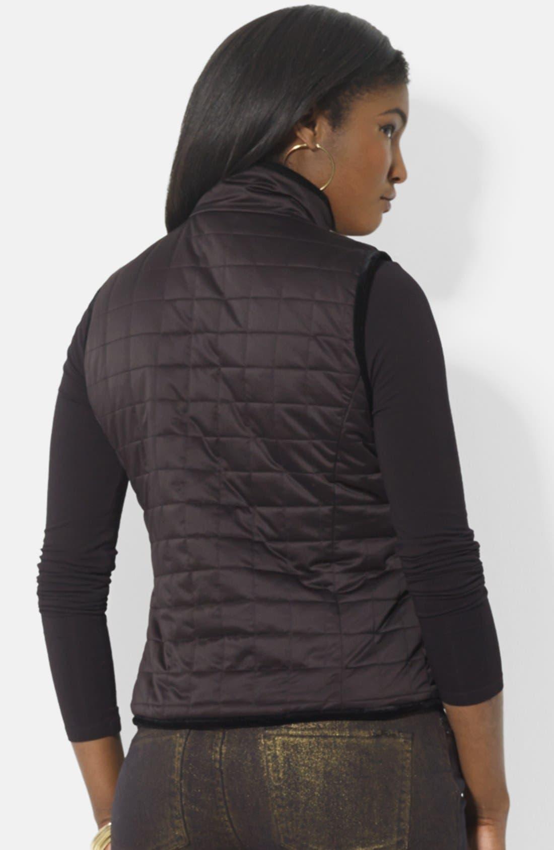 Alternate Image 3  - Lauren Ralph Lauren Reversible Quilted Vest (Petite)