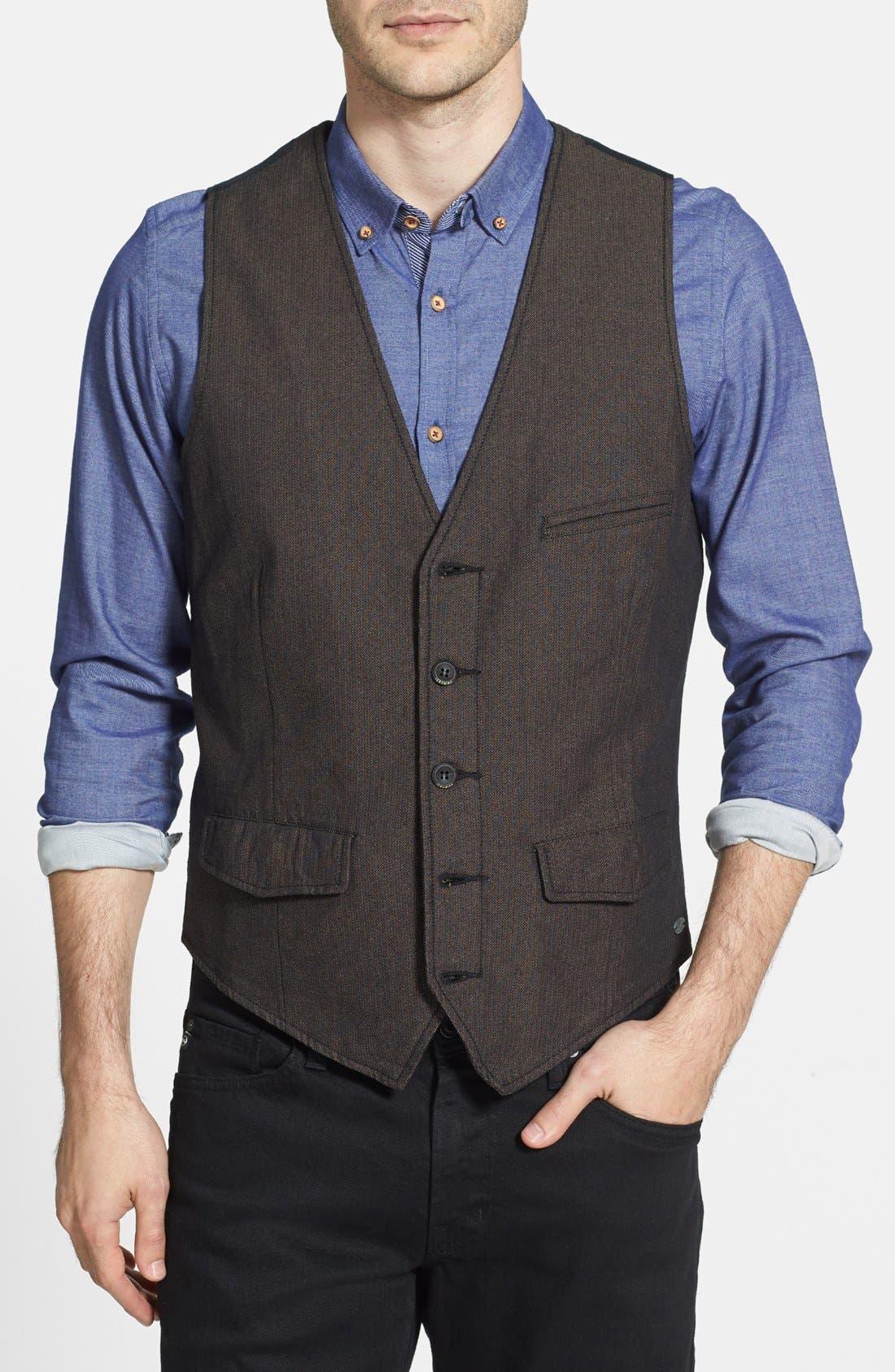 Alternate Image 1 Selected - Jeremiah 'Mumford' Herringbone Vest