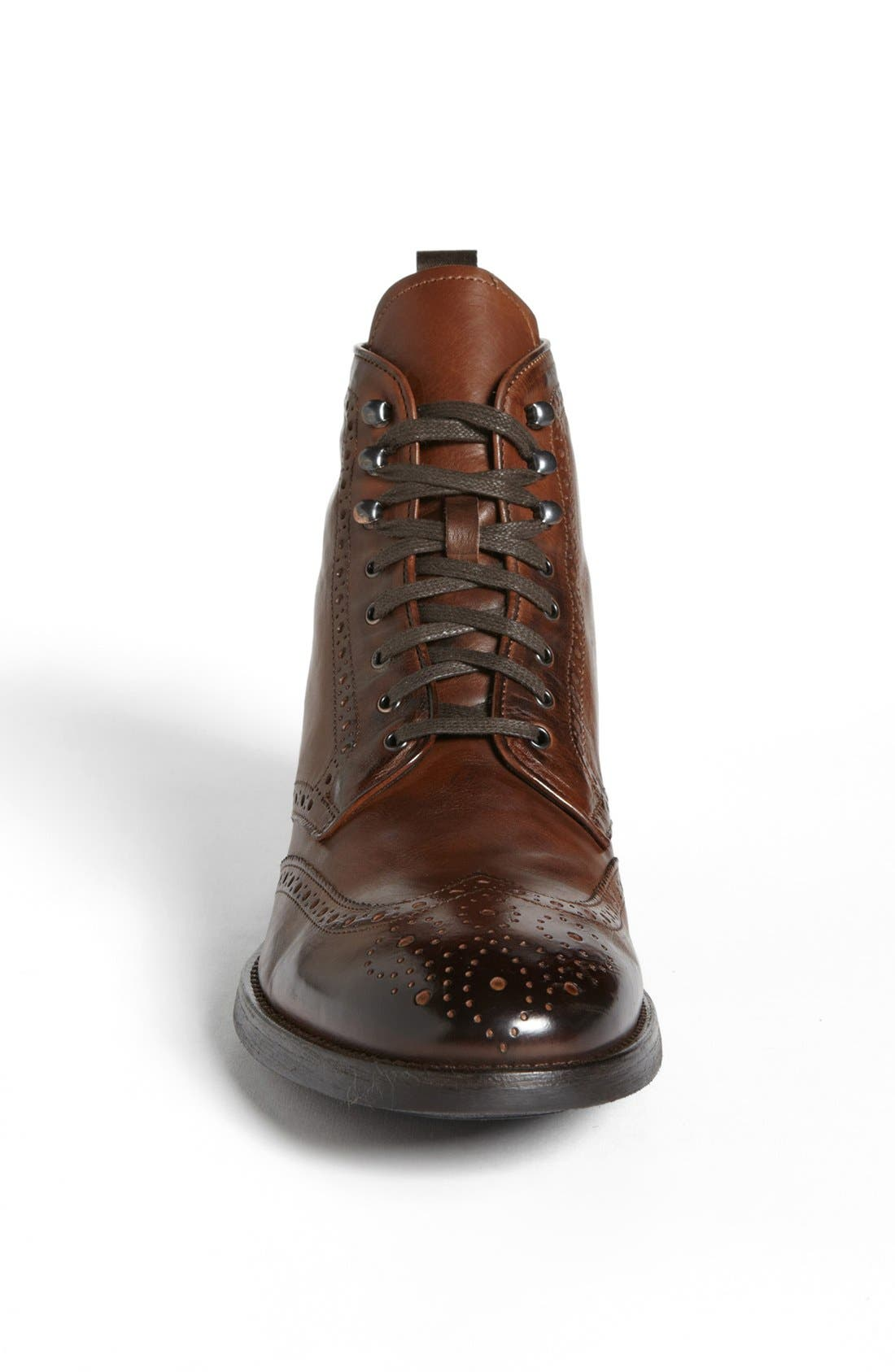 'Brennan' Wingtip Boot,                             Alternate thumbnail 3, color,                             Cognac