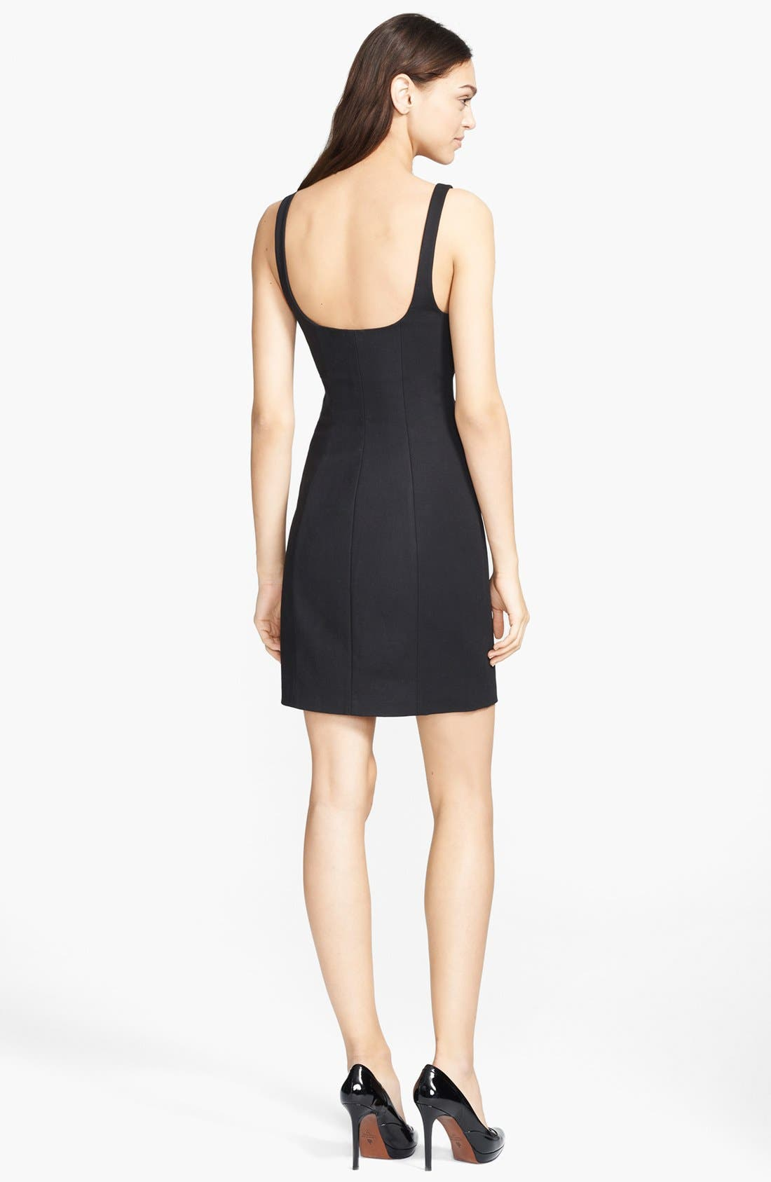 Alternate Image 2  - T by Alexander Wang Square Neck Double Face Dress