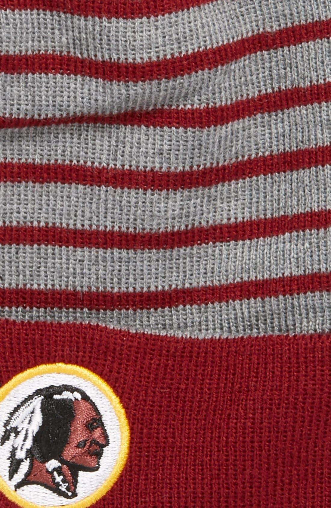 Alternate Image 3  - New Era Cap 'H Stripe - Washington Redskins' Knit Cap