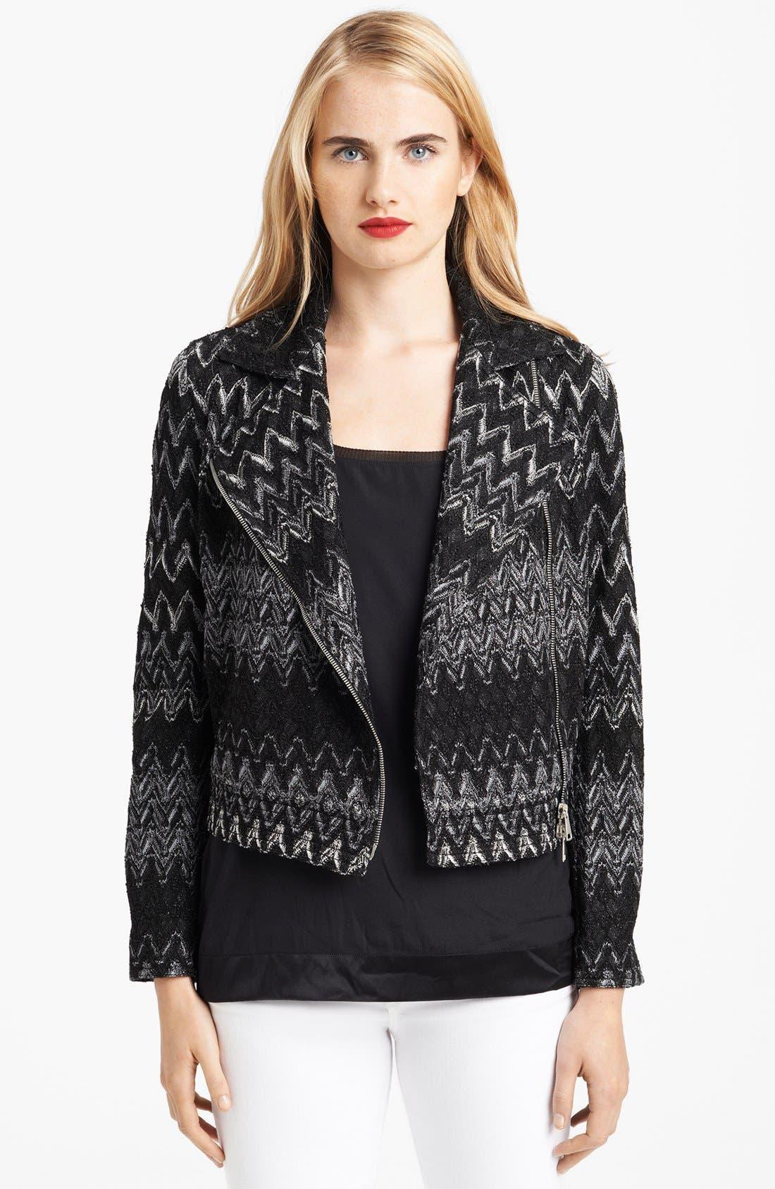 Alternate Image 1 Selected - Missoni Zigzag Moto Jacket