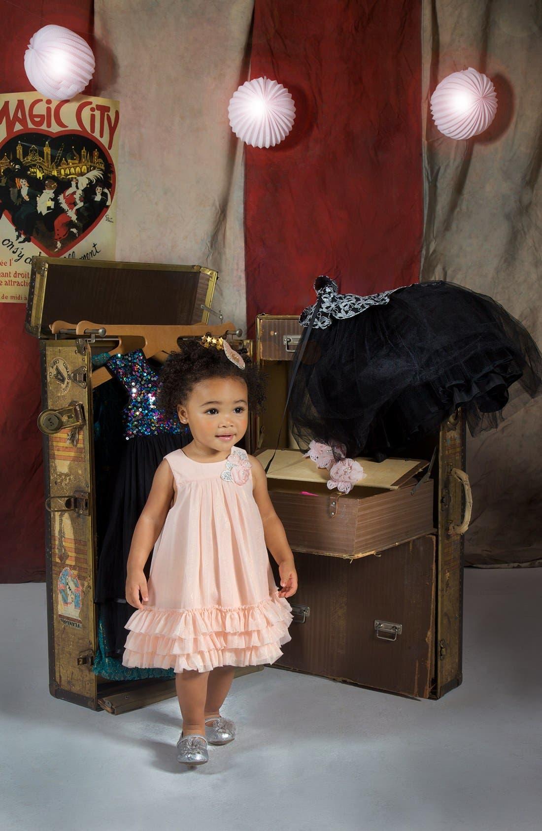 Alternate Image 2  - Pippa & Julie Ruffle Dress (Toddler Girls)