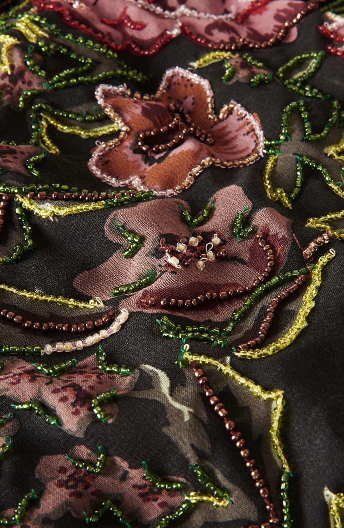 Alternate Image 4  - Topshop Embellished Floral Slipdress