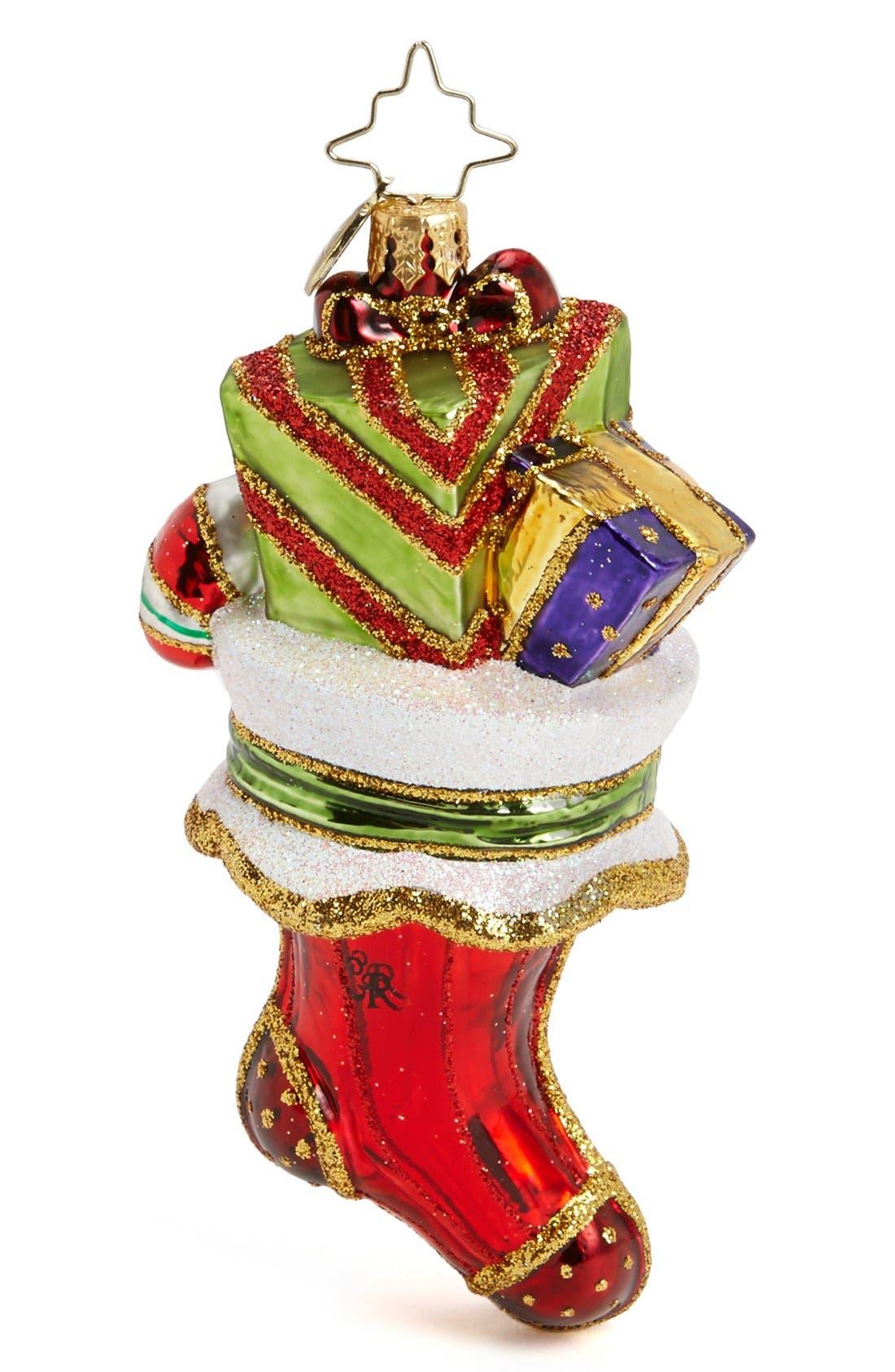 Alternate Image 1 Selected - Christopher Radko 'A Superb Stocking' Ornament