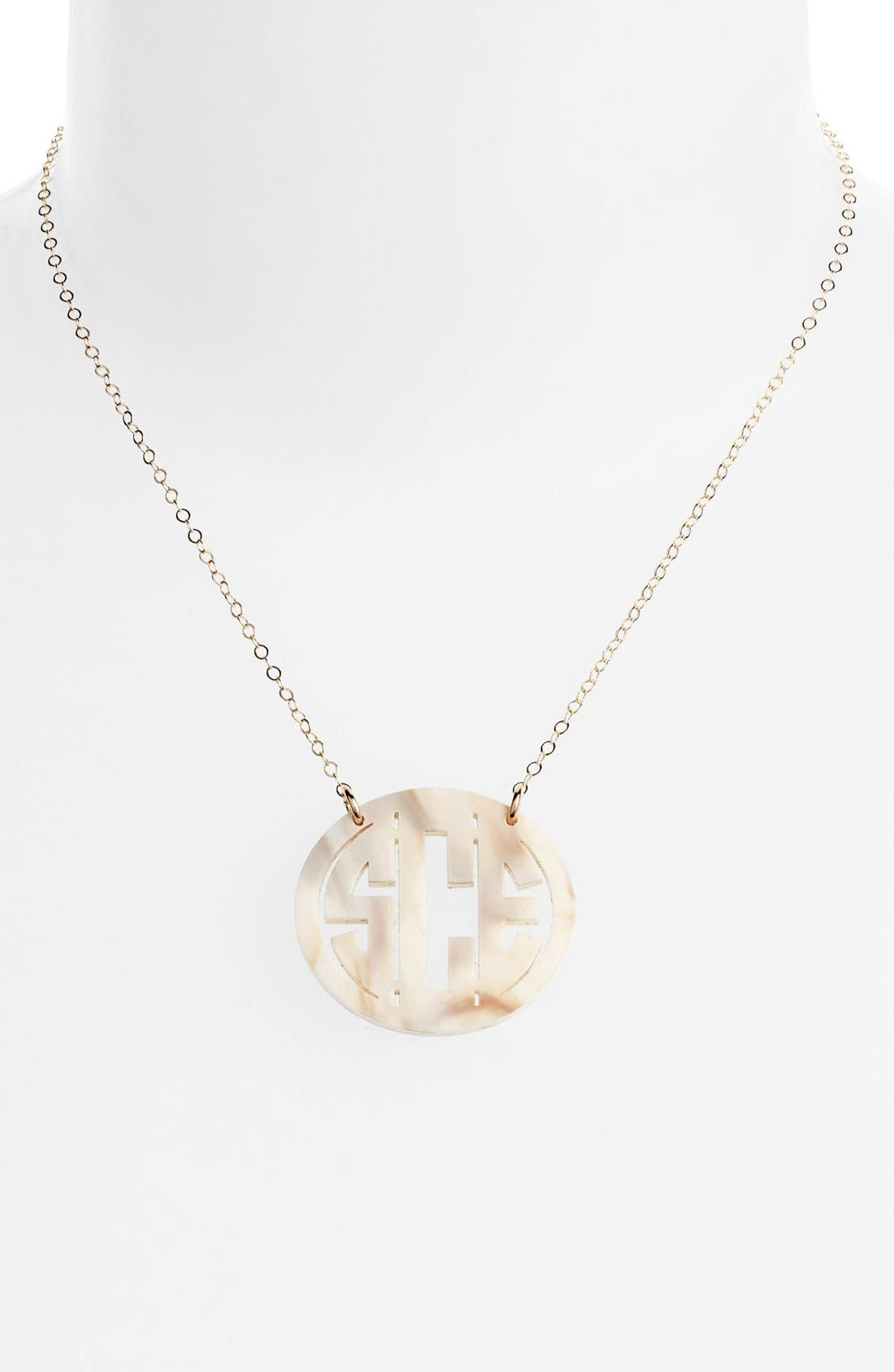 Moon and Lola Medium Oval Personalized Monogram Pendant Necklace (Nordstrom Exclusive)