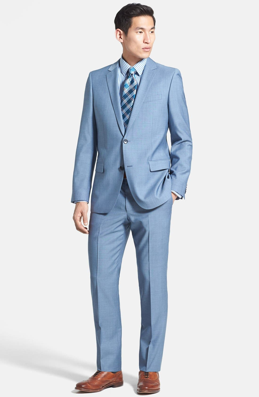 Alternate Image 1 Selected - HUGO 'Astro/Hill' Extra Trim Fit Wool Blend Suit