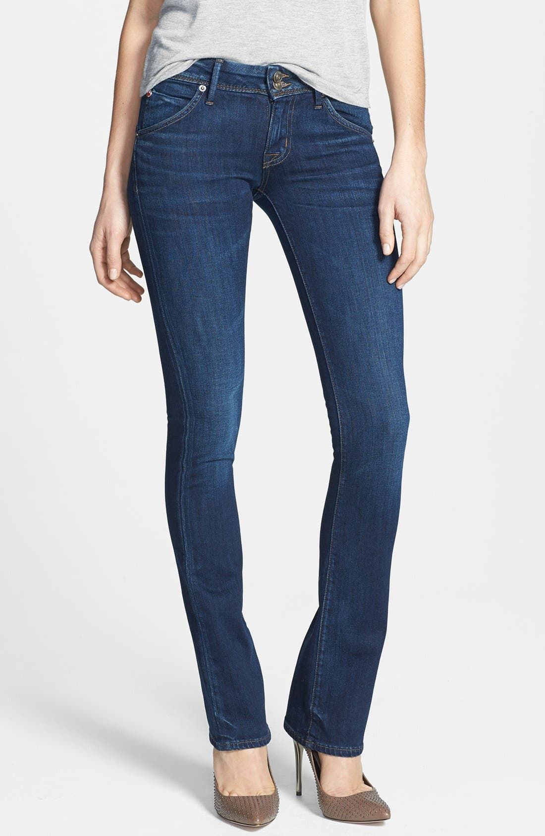 Alternate Image 1 Selected - Hudson Jeans 'Beth' Baby Bootcut Jeans (Unplugged)