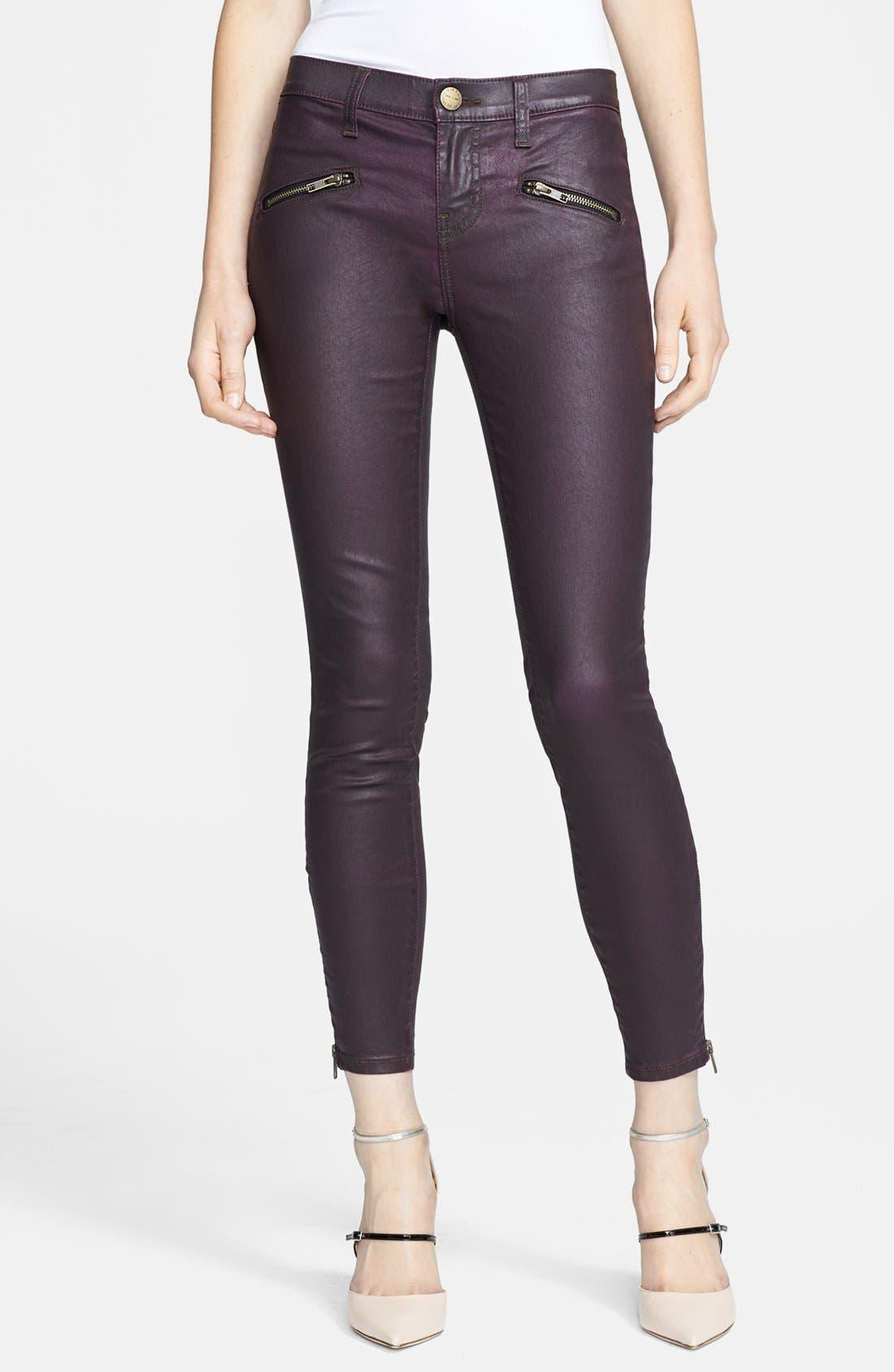 Alternate Image 1 Selected - Current/Elliott 'The Soho Zip' Skinny Coated Jeans