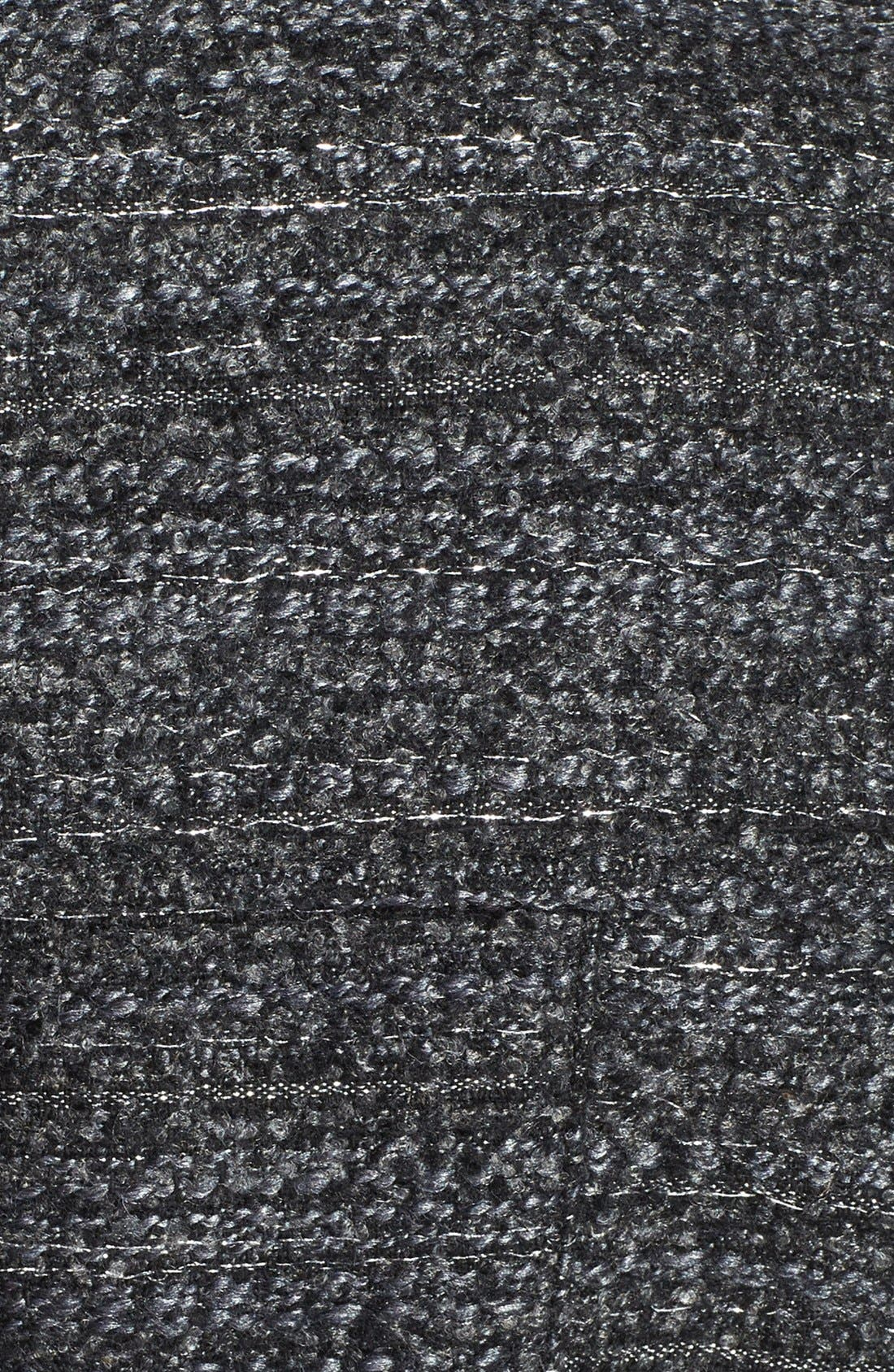 Metallic Tweed Walking Coat,                             Alternate thumbnail 3, color,                             Black
