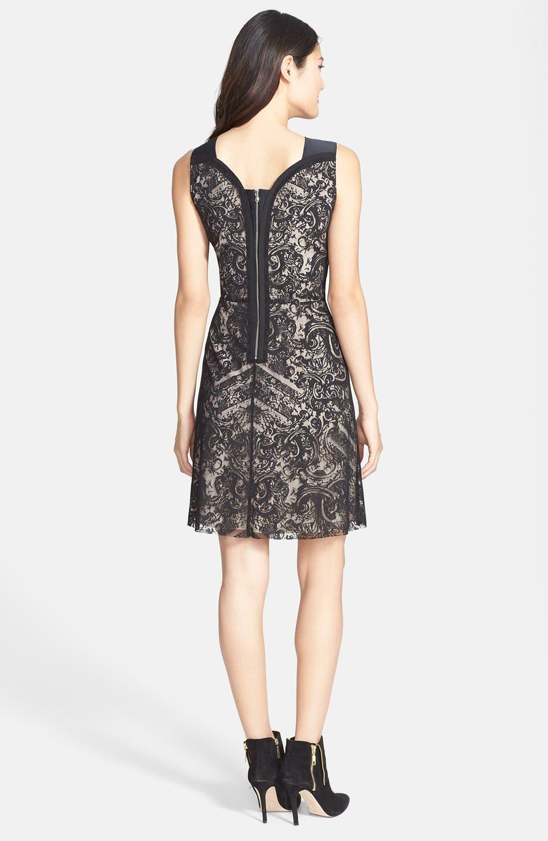 Alternate Image 2  - Kenneth Cole New York 'Skylar' Lace Overlay Sleeveless Dress