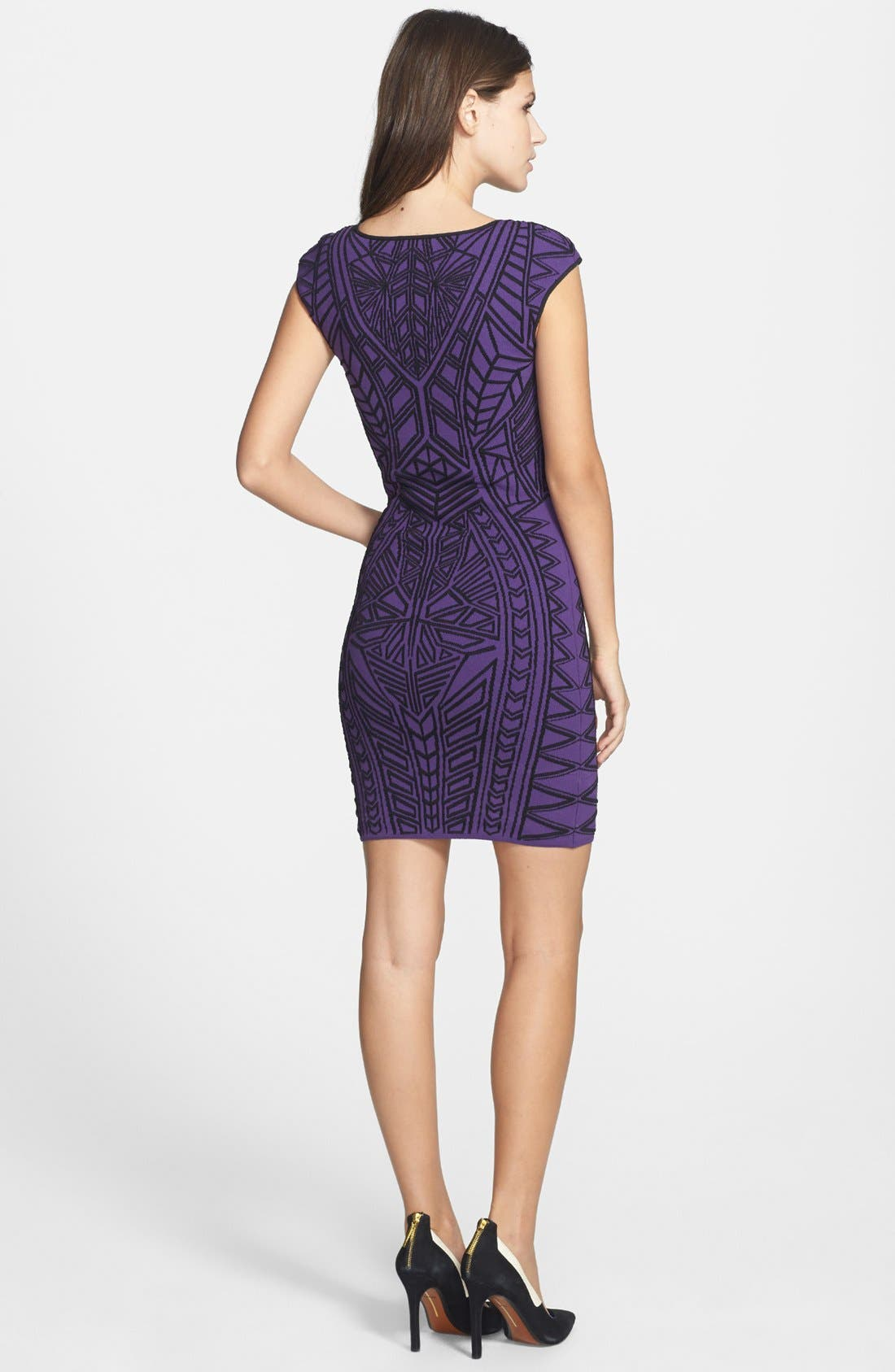 Alternate Image 2  - RVN Abstract 3D Jacquard Body-Con Dress