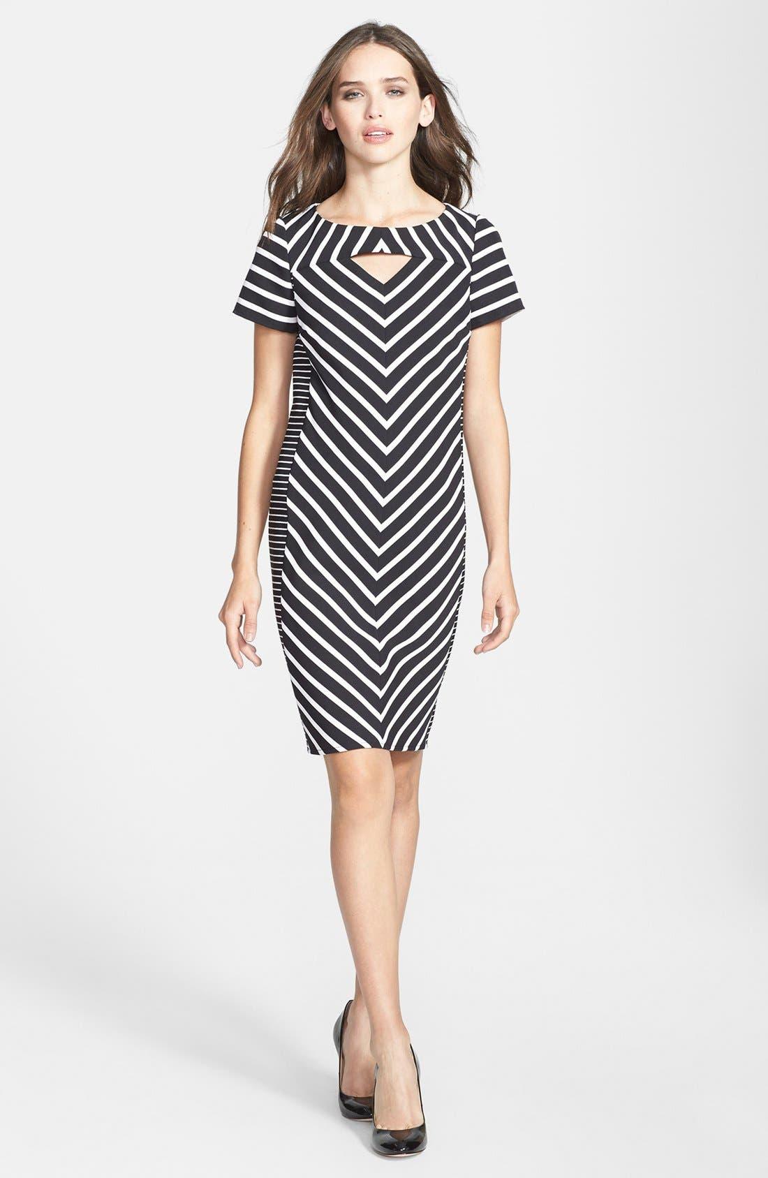 Alternate Image 3  - Gabby Skye Belted Burnout Organza Fit & Flare Dress