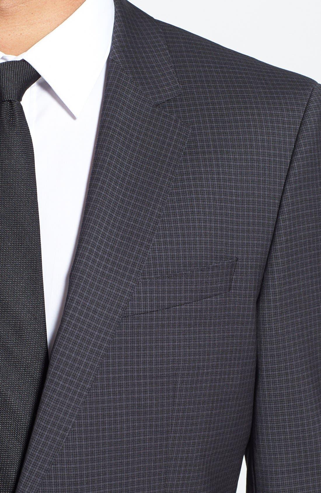 Alternate Image 5  - BOSS HUGO BOSS 'Huge/Genius' Trim Fit Check Suit